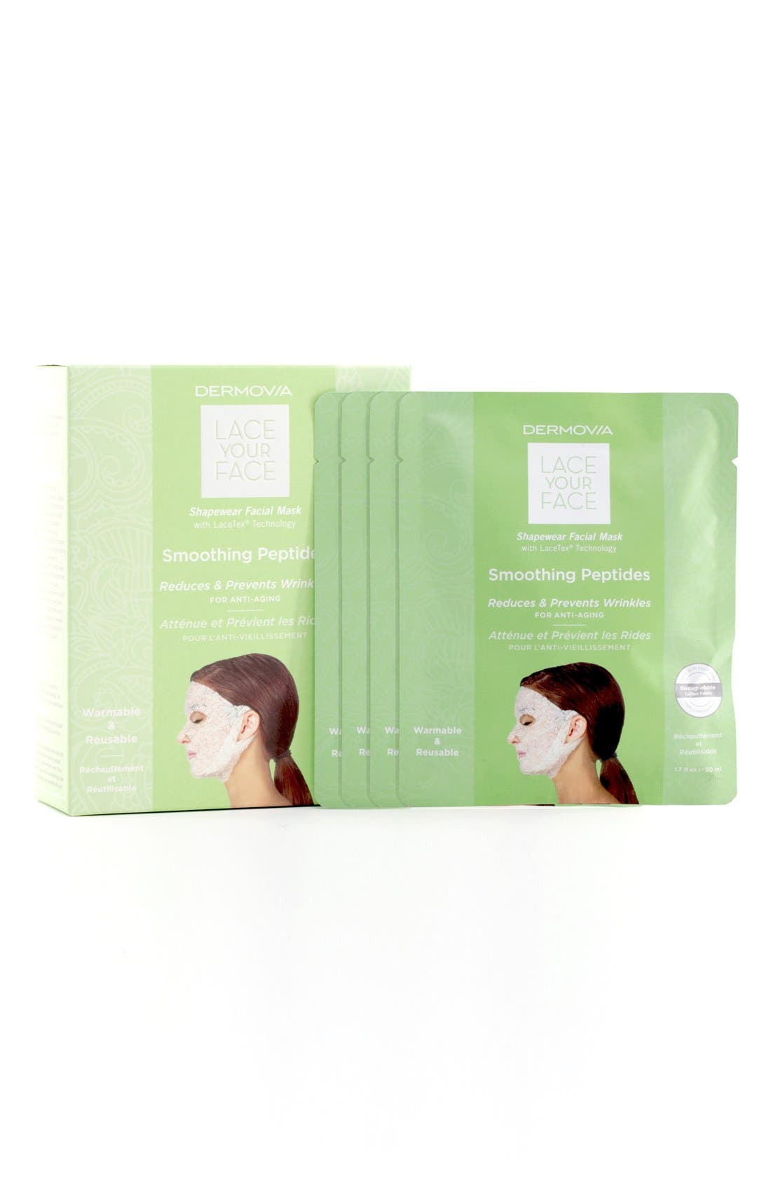 Lace Your Face Smoothing Peptides Compression Facial Mask,                             Alternate thumbnail 3, color,                             NONE