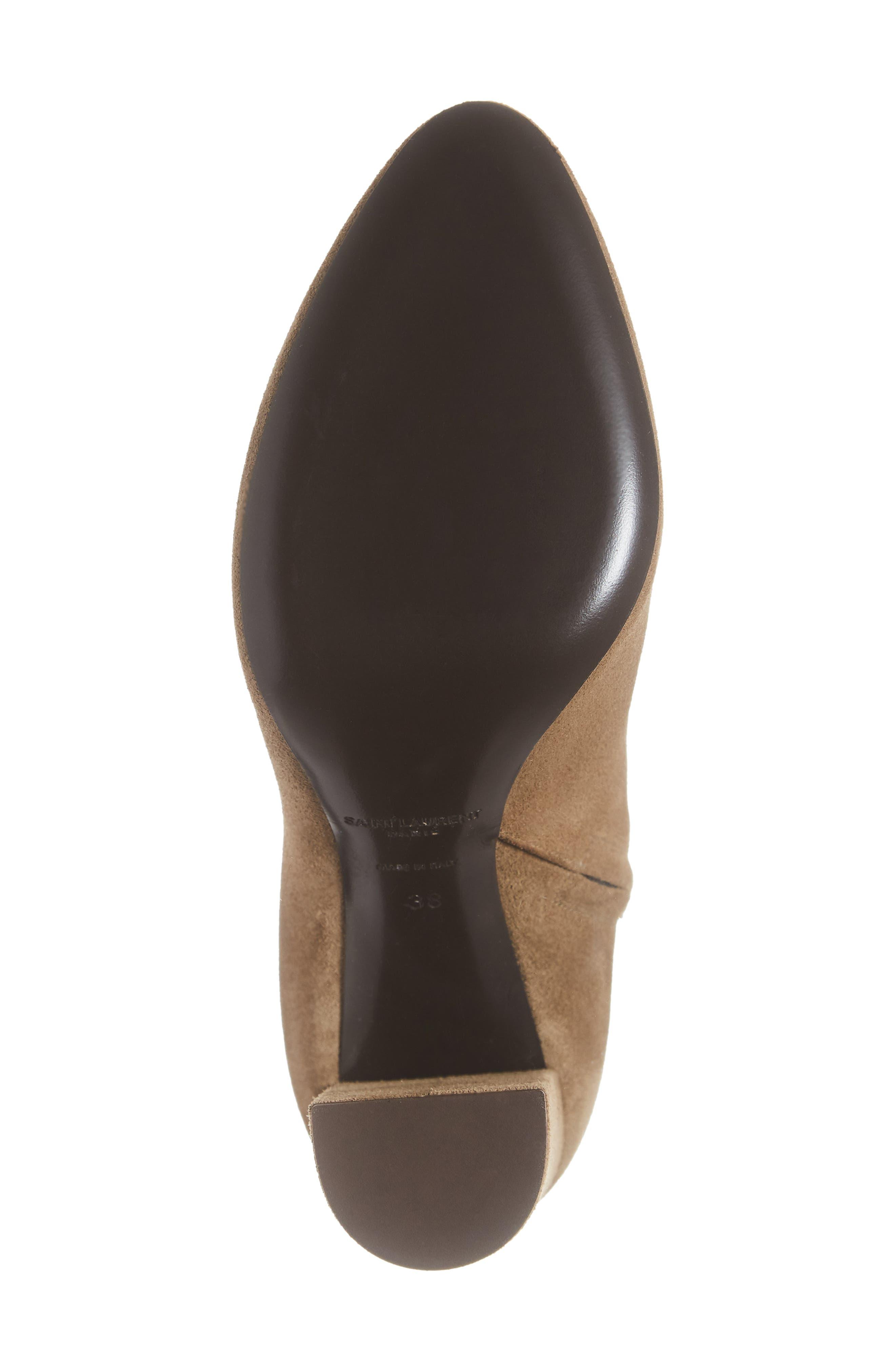 Lou Almond Toe Boot,                             Alternate thumbnail 6, color,                             LIGHT CIGAR SUEDE