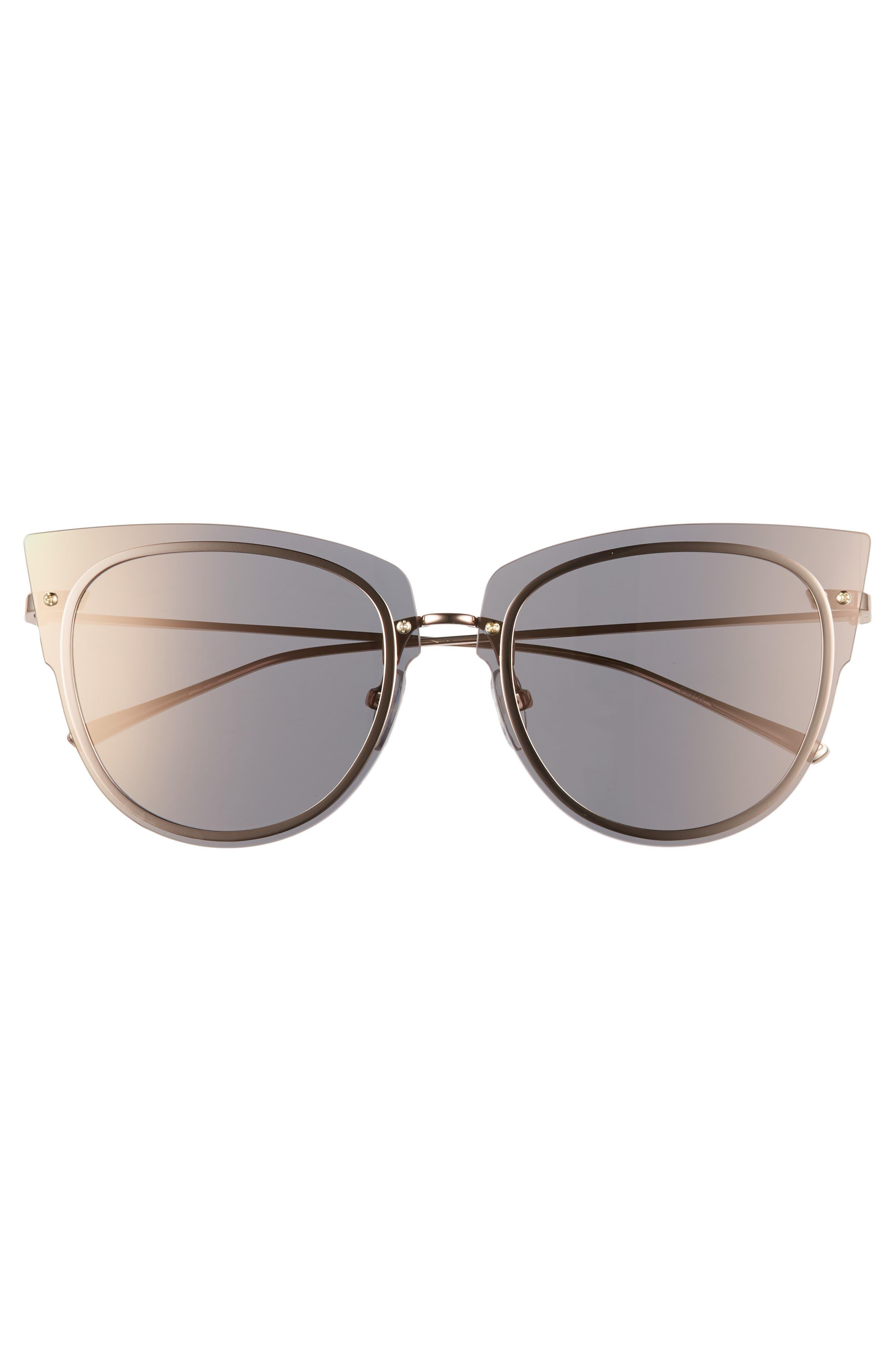 x Demi Lovato DEMI 50mm Rimless Cat Eye Sunglasses,                             Alternate thumbnail 3, color,                             020