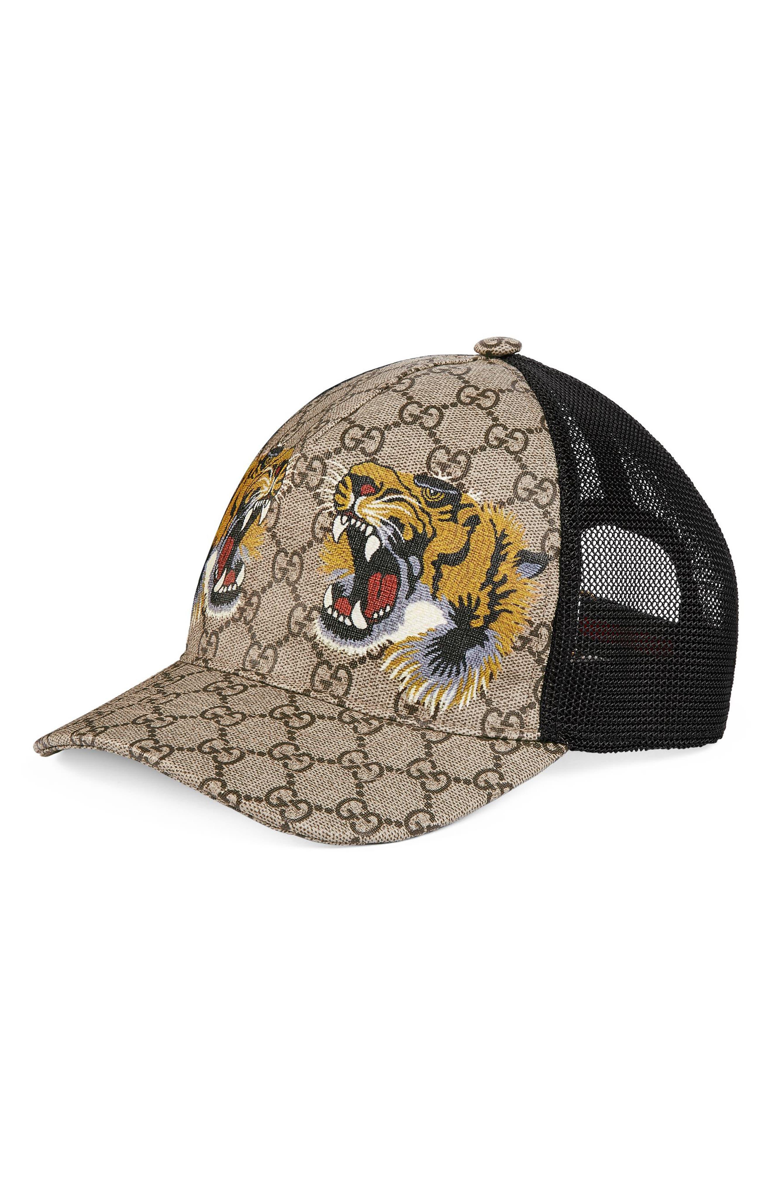 Tiger Logo Print Baseball Cap,                             Main thumbnail 1, color,                             204