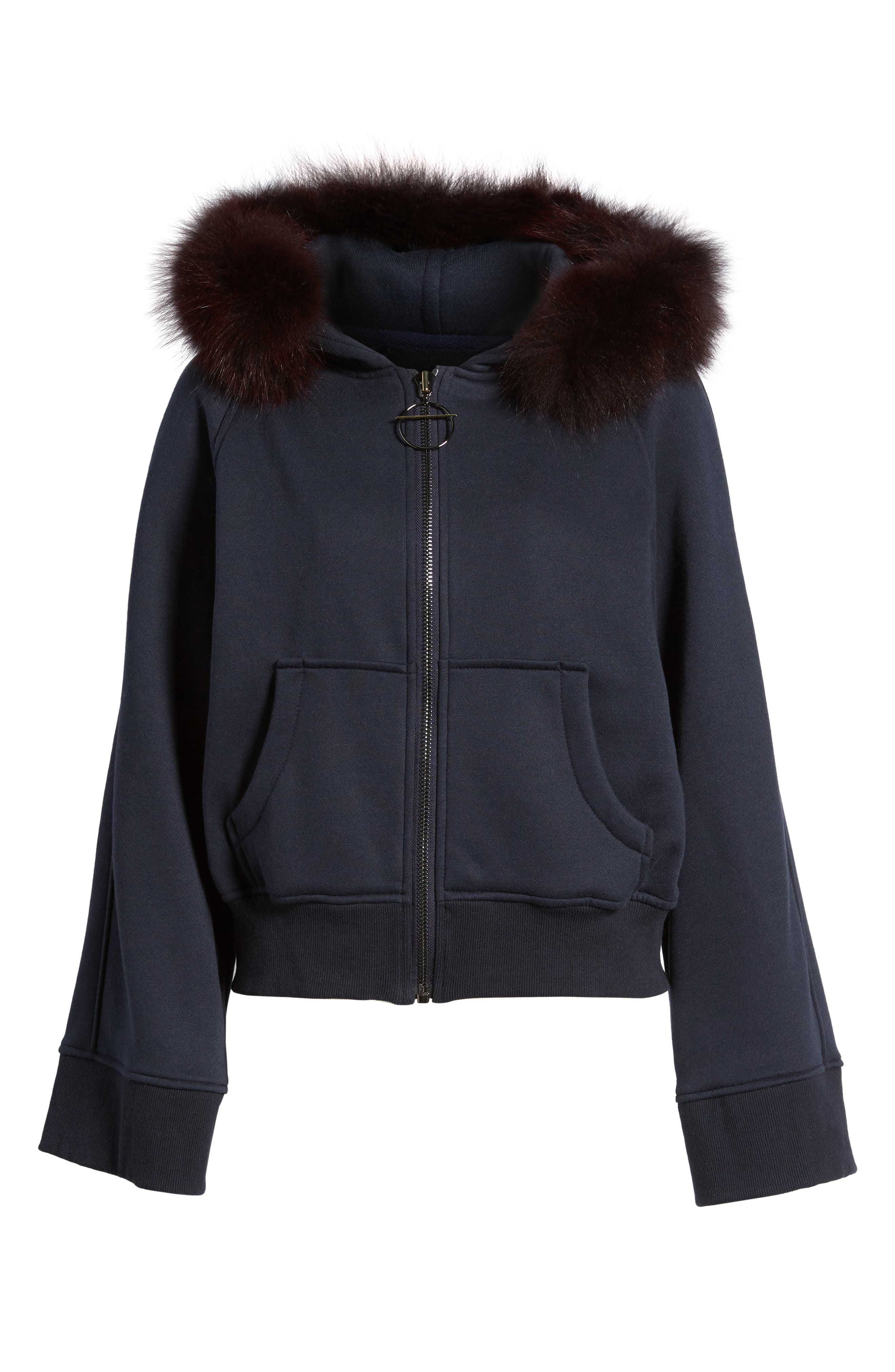 BAGATELLE.CITY The Luxe Hooded Jacket with Genuine Fox Fur Trim,                             Alternate thumbnail 14, color,
