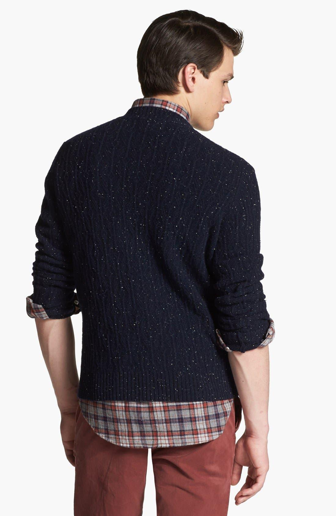 BILLY REID,                             Diamond Knit Wool V-Neck Sweater,                             Alternate thumbnail 5, color,                             410