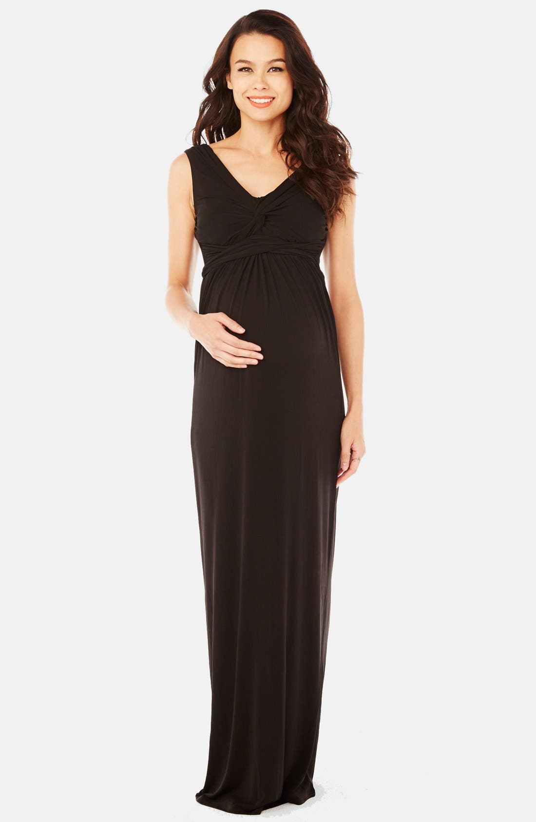 Kristina Maxi Maternity Dress,                             Main thumbnail 1, color,                             001