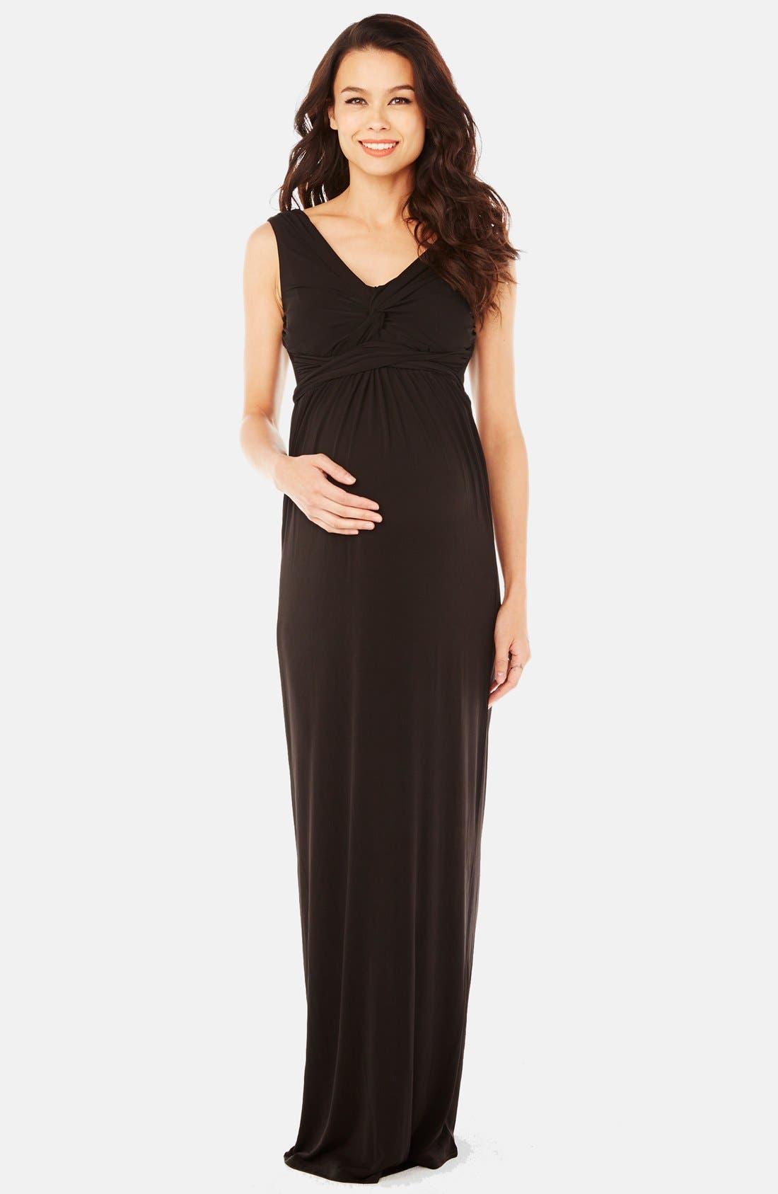 Kristina Maxi Maternity Dress,                         Main,                         color, 001