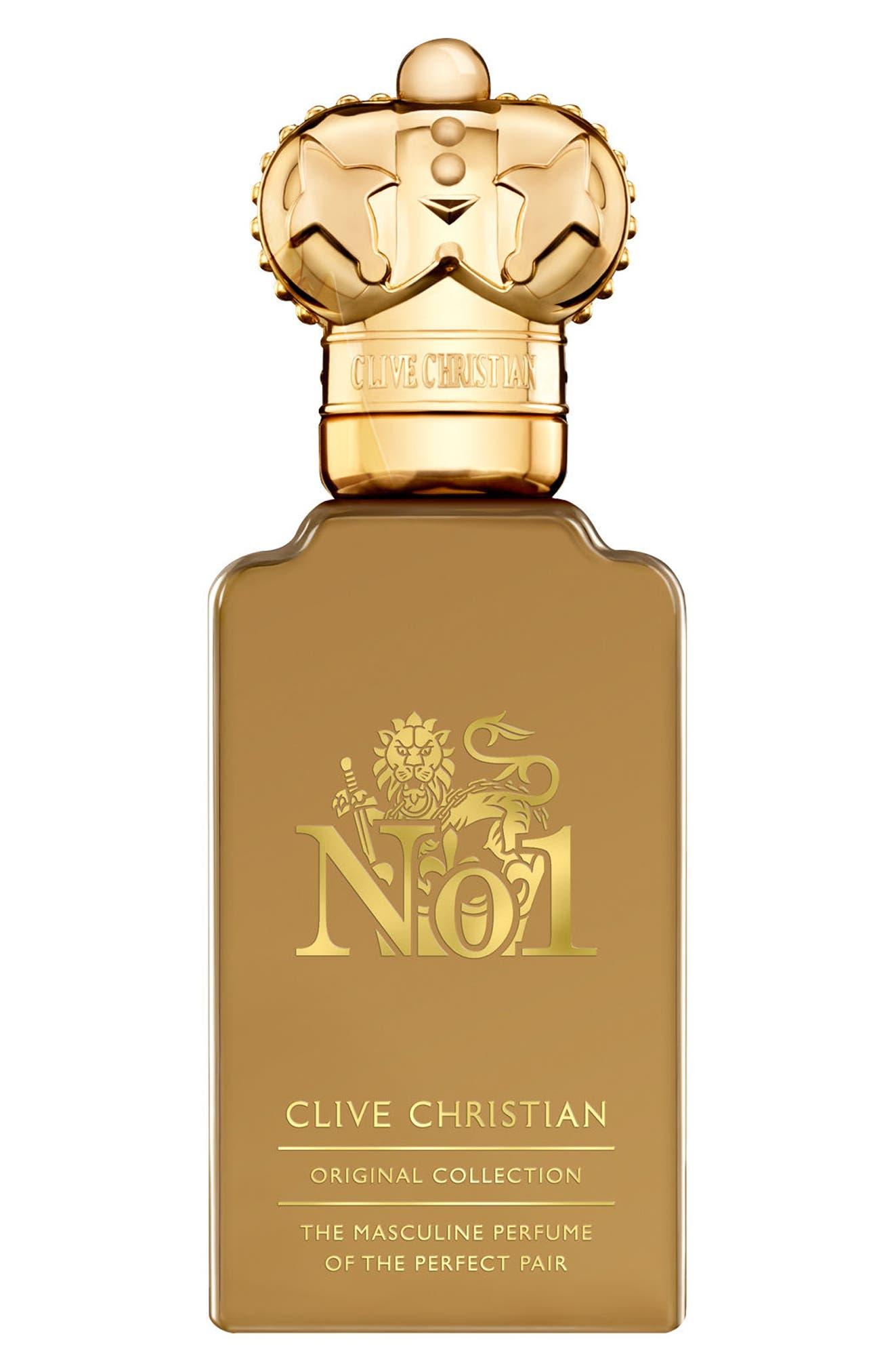 'No. 1' Men's Pure Perfume Spray,                         Main,                         color, 000