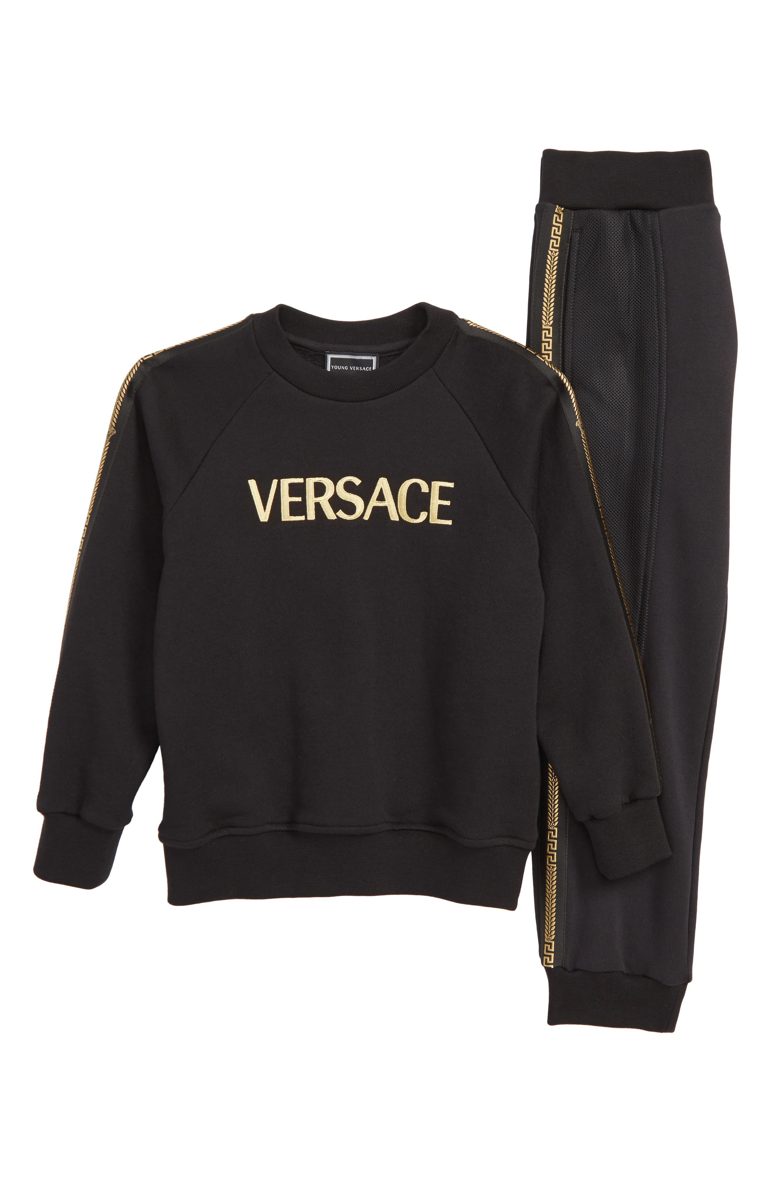 Boys Versace Logo Sweatshirt  Sweatpants Set