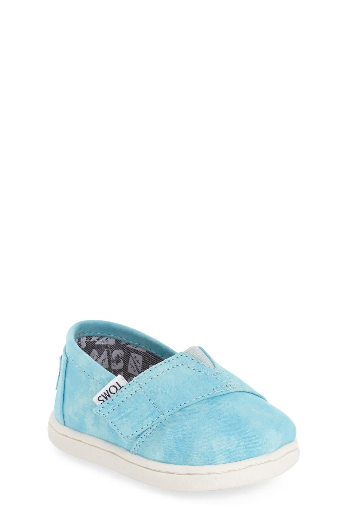 'Classic - Tiny' Print Slip-On,                         Main,                         color, AQUA