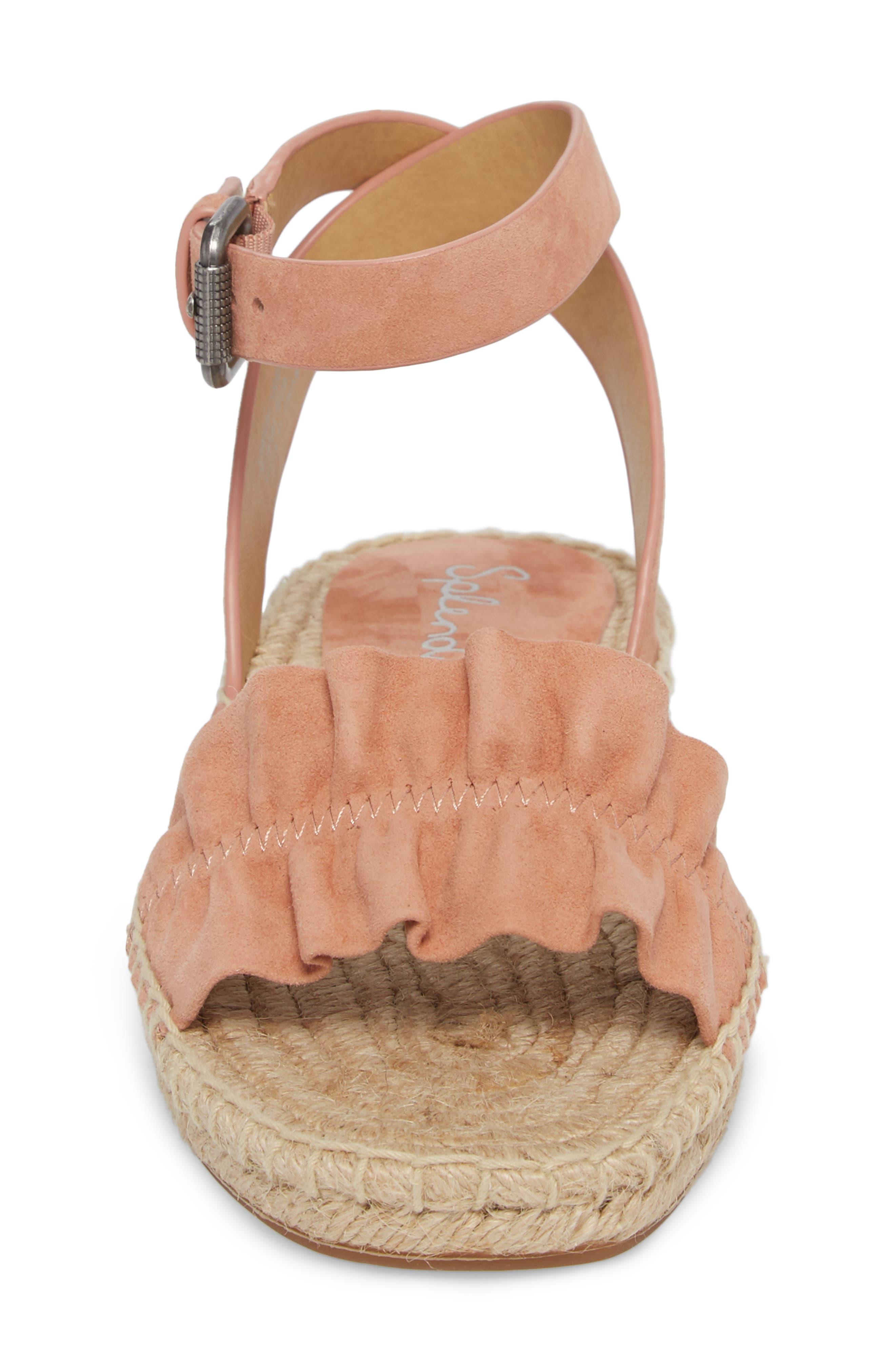 Becca Ruffled Espadrille Sandal,                             Alternate thumbnail 16, color,