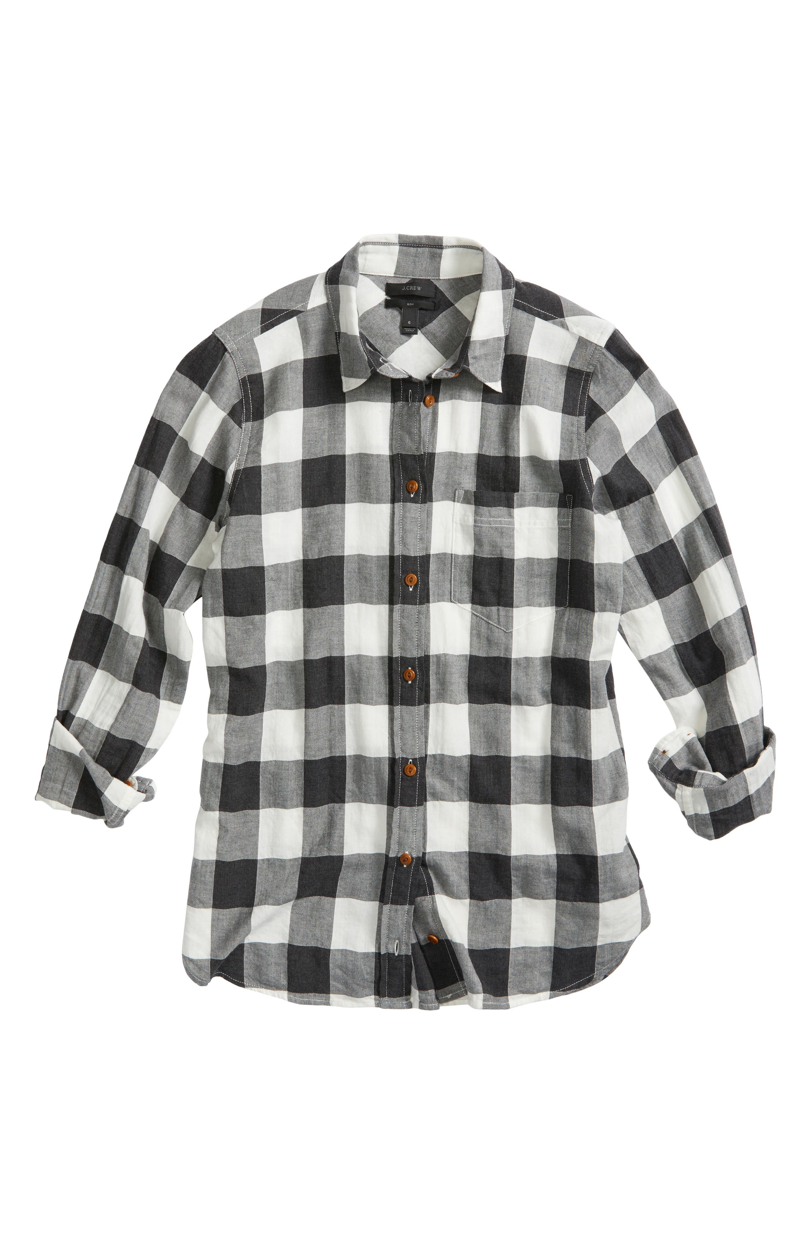 Buffalo Plaid Boy Shirt,                             Alternate thumbnail 6, color,                             090