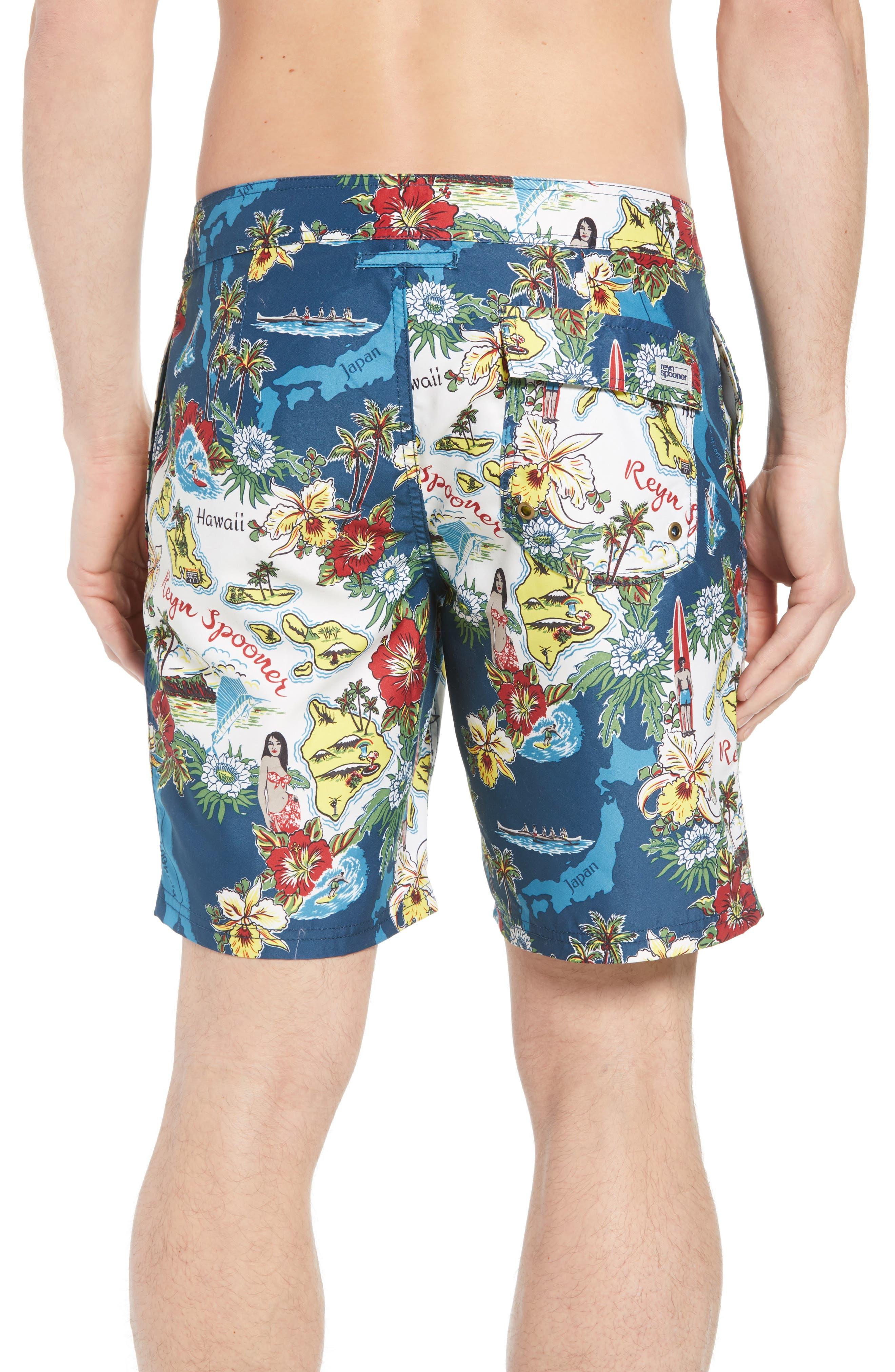 Status Oceanic Regular Fit Board Shorts,                             Alternate thumbnail 2, color,                             BLUE