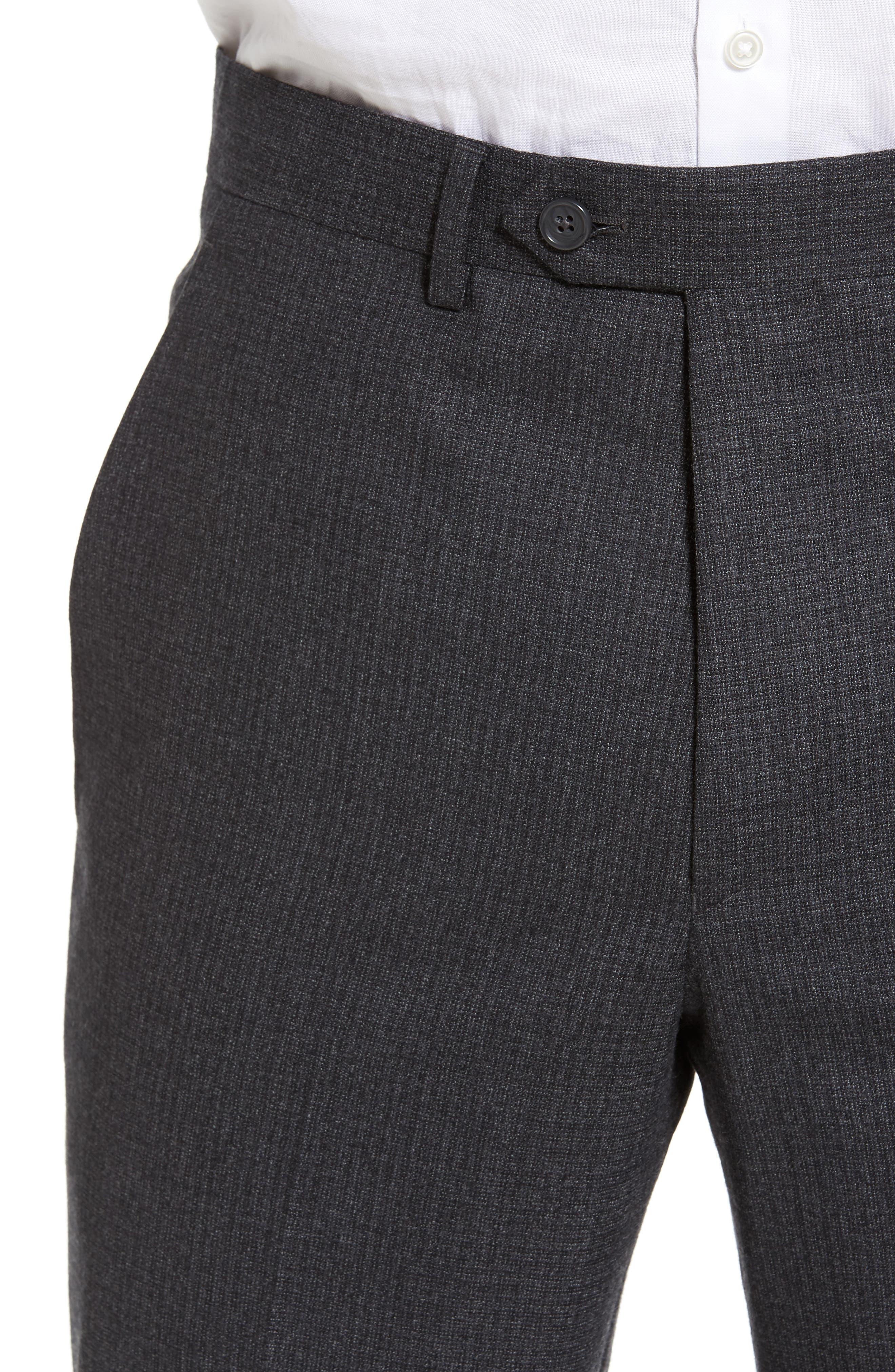 Romero Regular Fit Flat Front Trousers,                             Alternate thumbnail 5, color,                             010