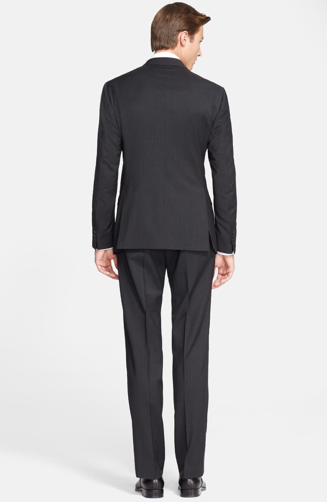'G-Line' Trim Fit Solid Wool Suit,                             Alternate thumbnail 6, color,                             020