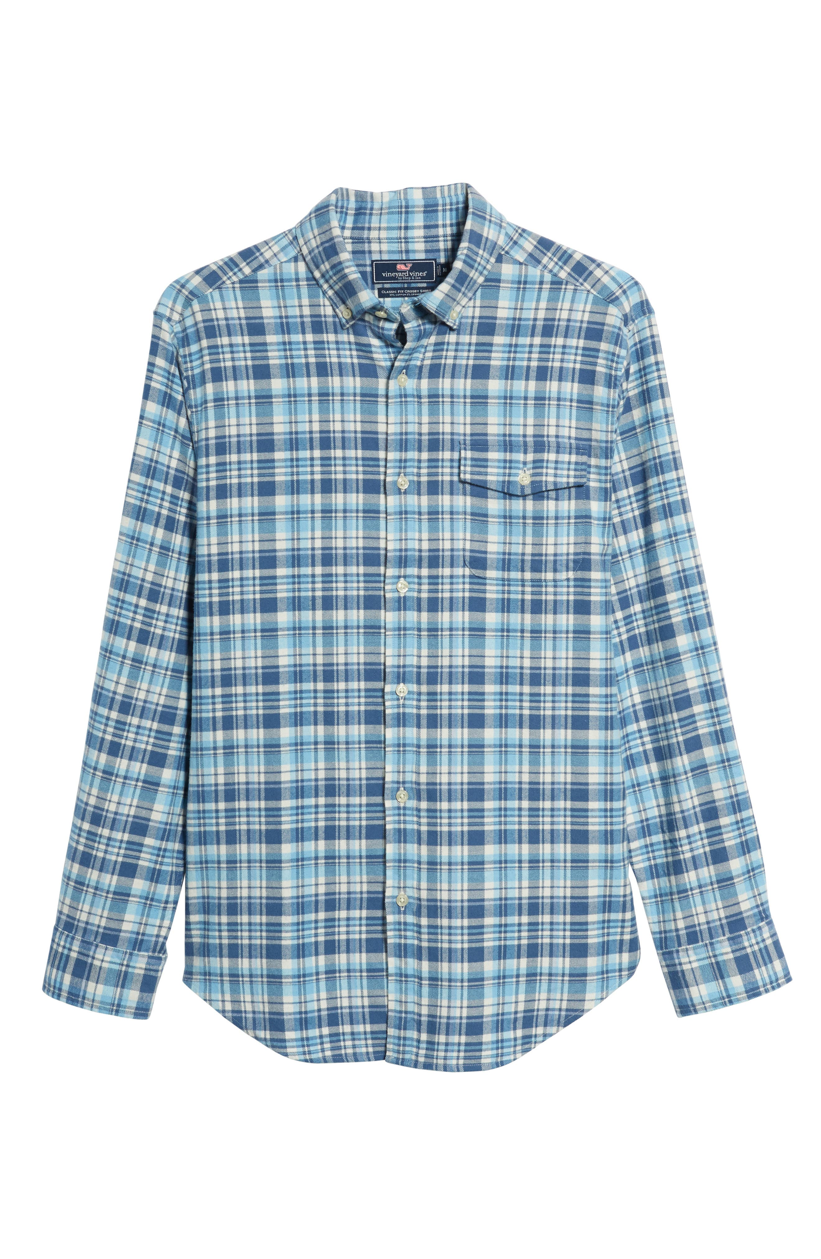 Mill Hill Regular Fit Plaid Flannel Shirt,                             Alternate thumbnail 5, color,                             MOONSHINE