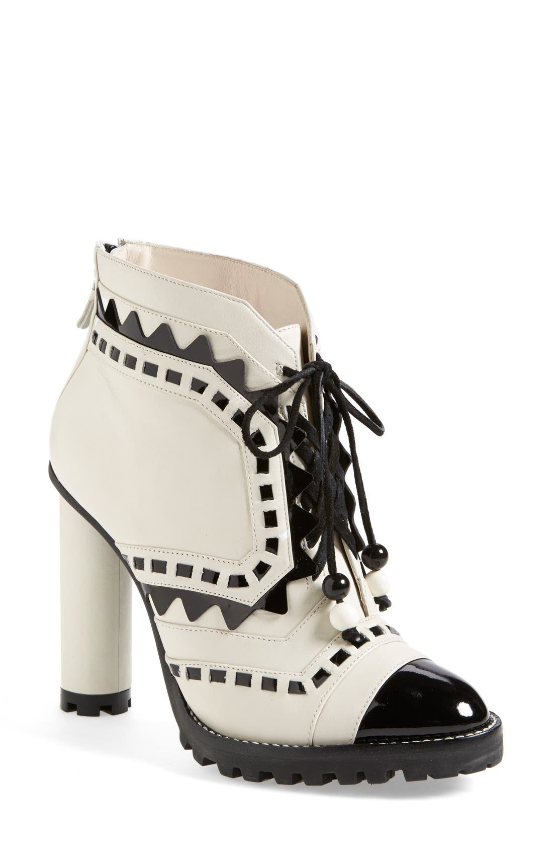 SOPHIA WEBSTER 'Riko' Leather Boot, Main, color, 100