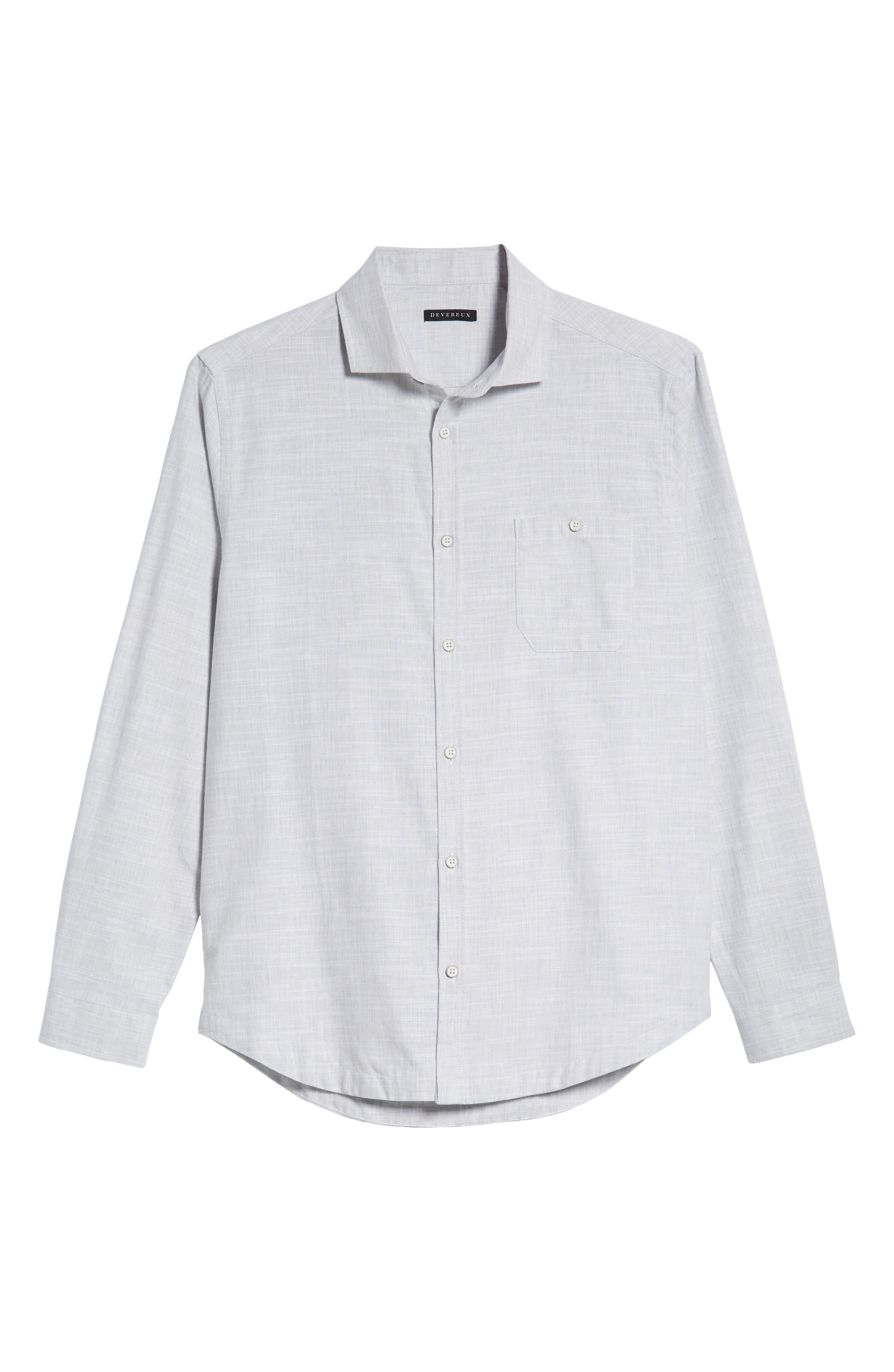 Rugger Regular Fit Sport Shirt,                             Alternate thumbnail 5, color,                             LIGHT GREY