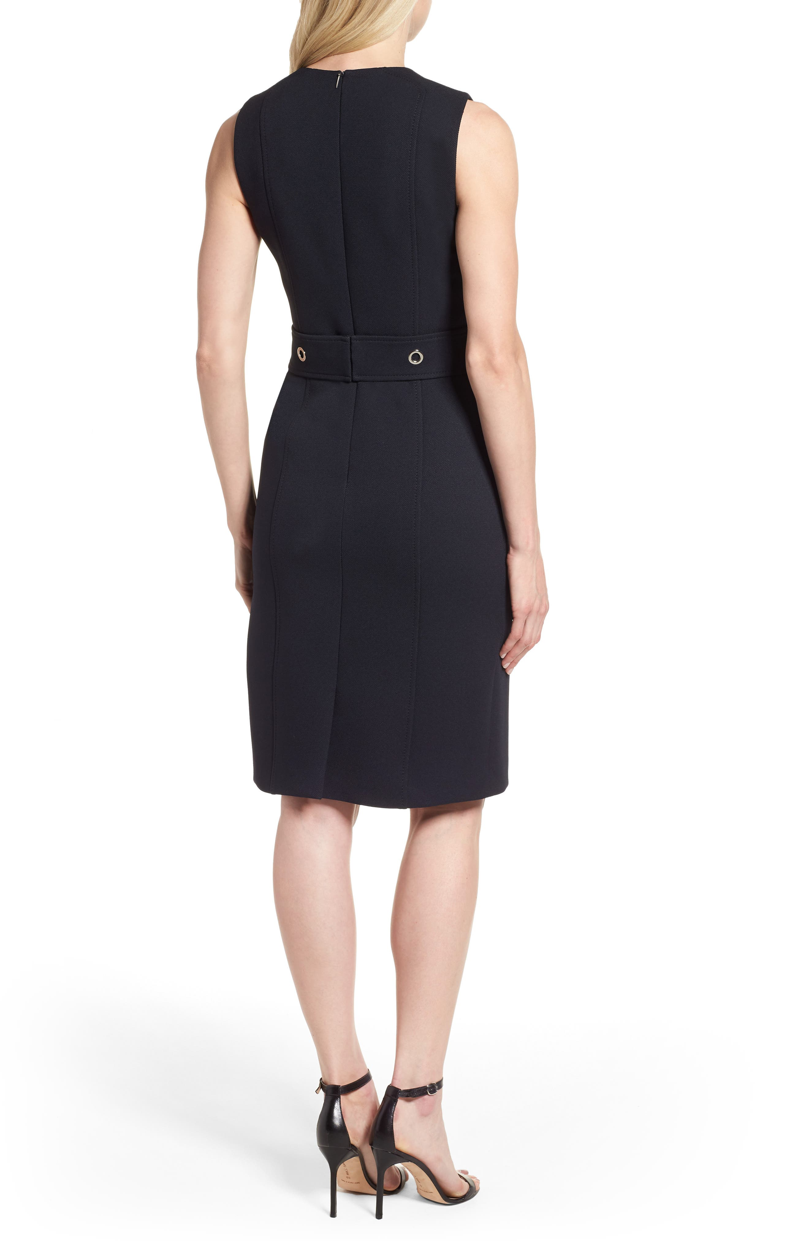 Duleama Belted Sheath Dress,                             Alternate thumbnail 2, color,