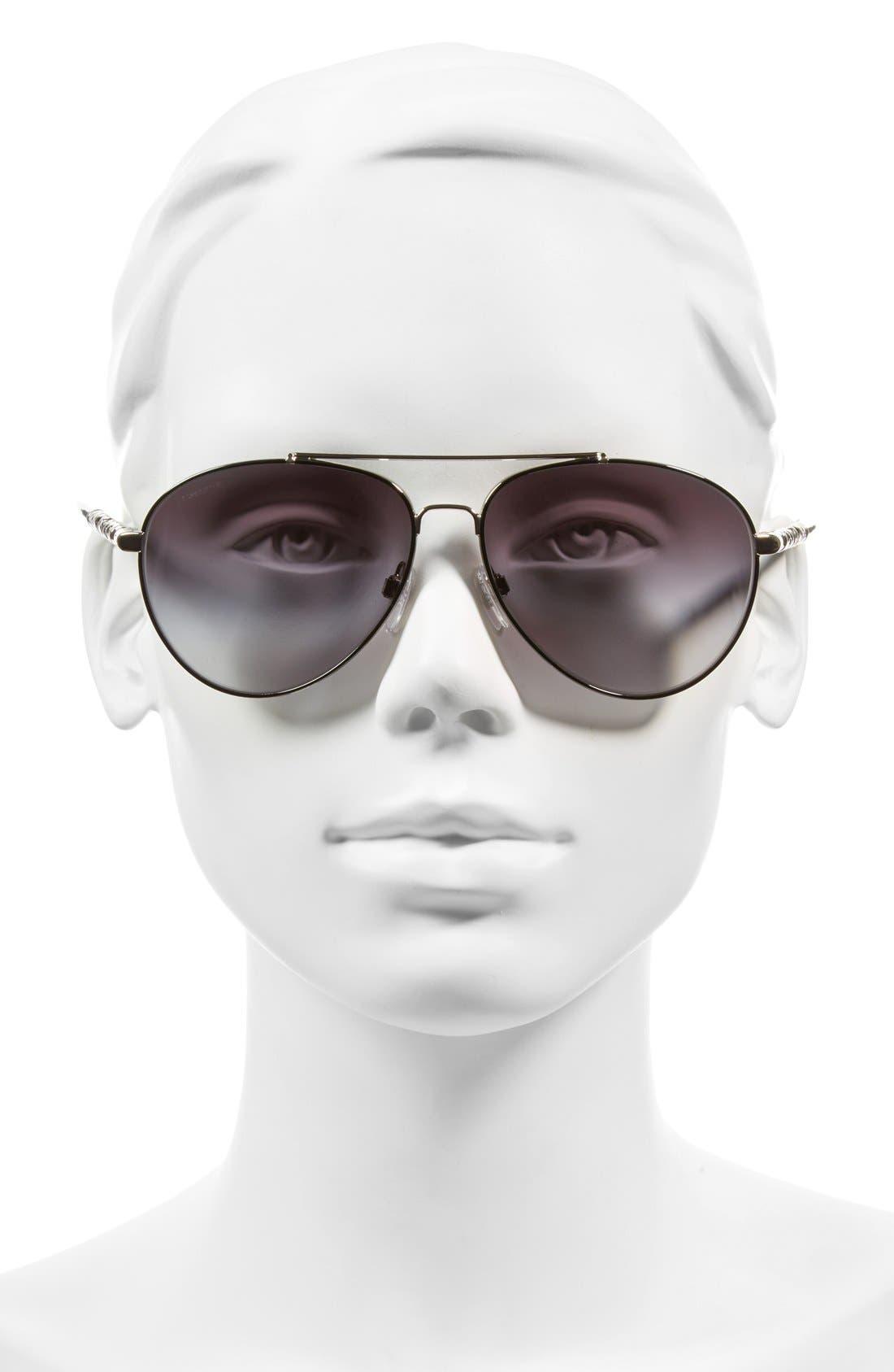 58mm Aviator Sunglasses,                             Alternate thumbnail 2, color,                             020