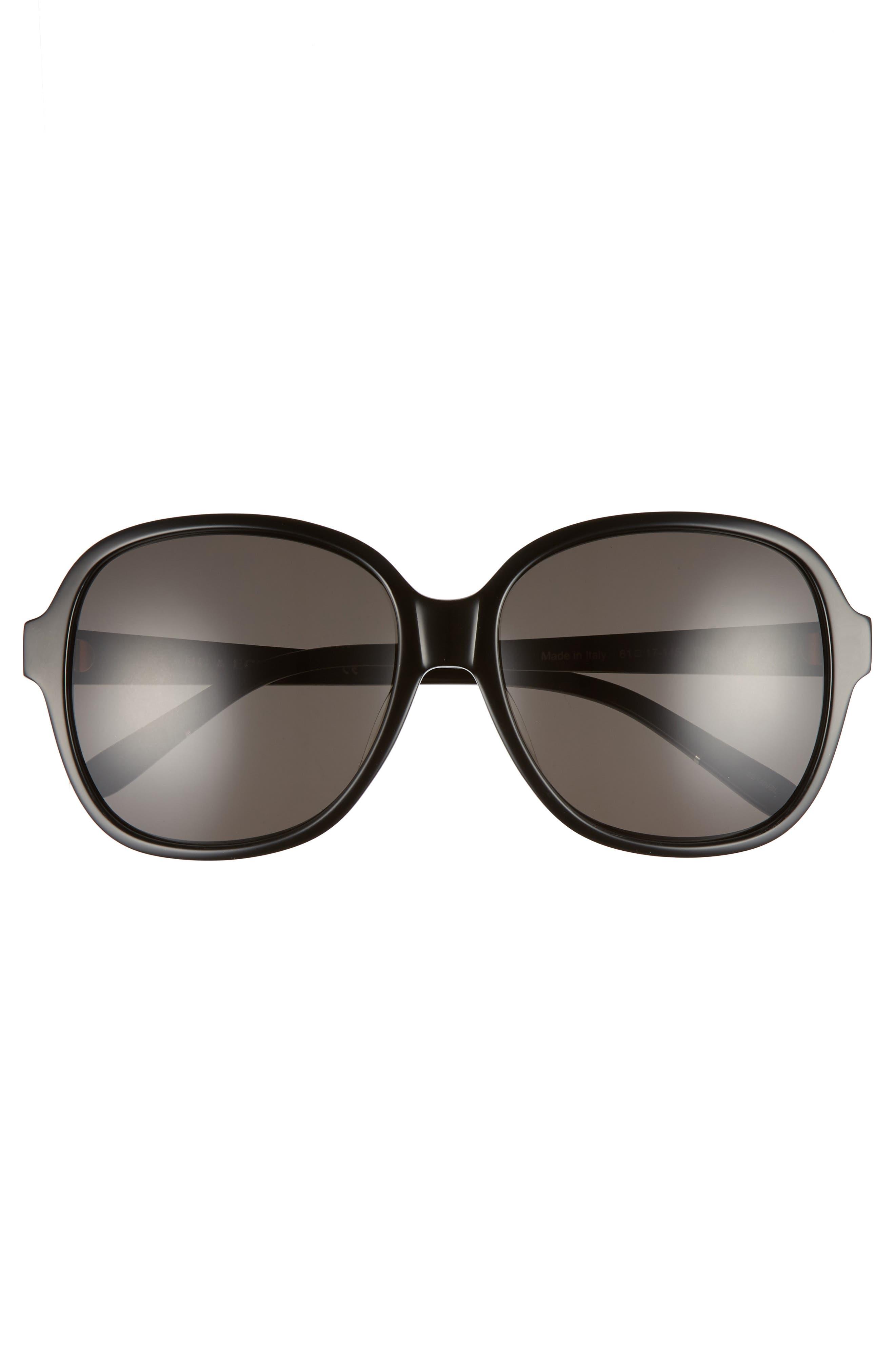 BLANC & ECLARE Beijing 61mm Polarized Sunglasses,                             Alternate thumbnail 3, color,                             BLACK