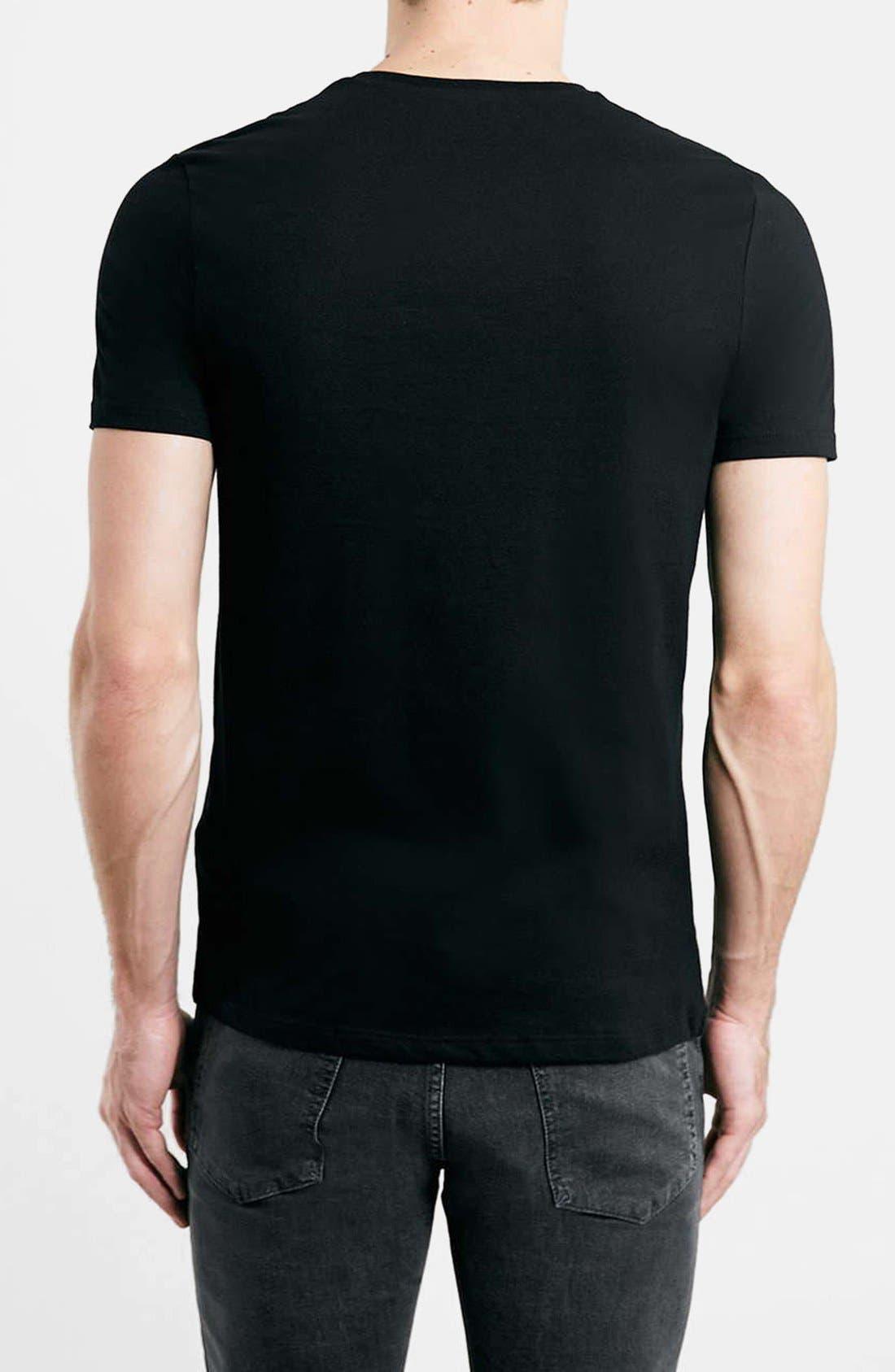 Slim Fit Crewneck T-Shirt,                             Alternate thumbnail 2, color,                             001