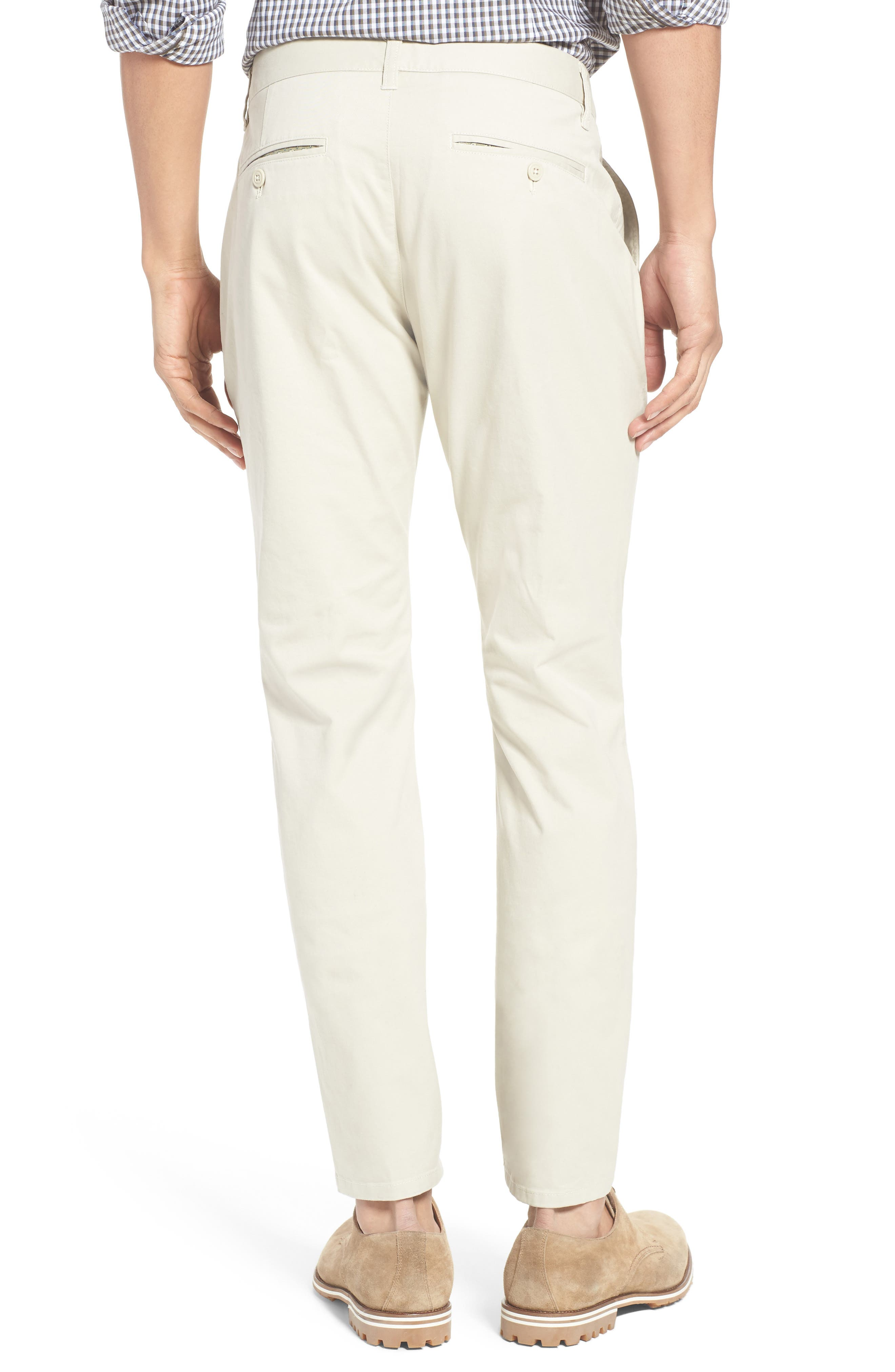 Tailored Fit Washed Stretch Cotton Chinos,                             Alternate thumbnail 64, color,