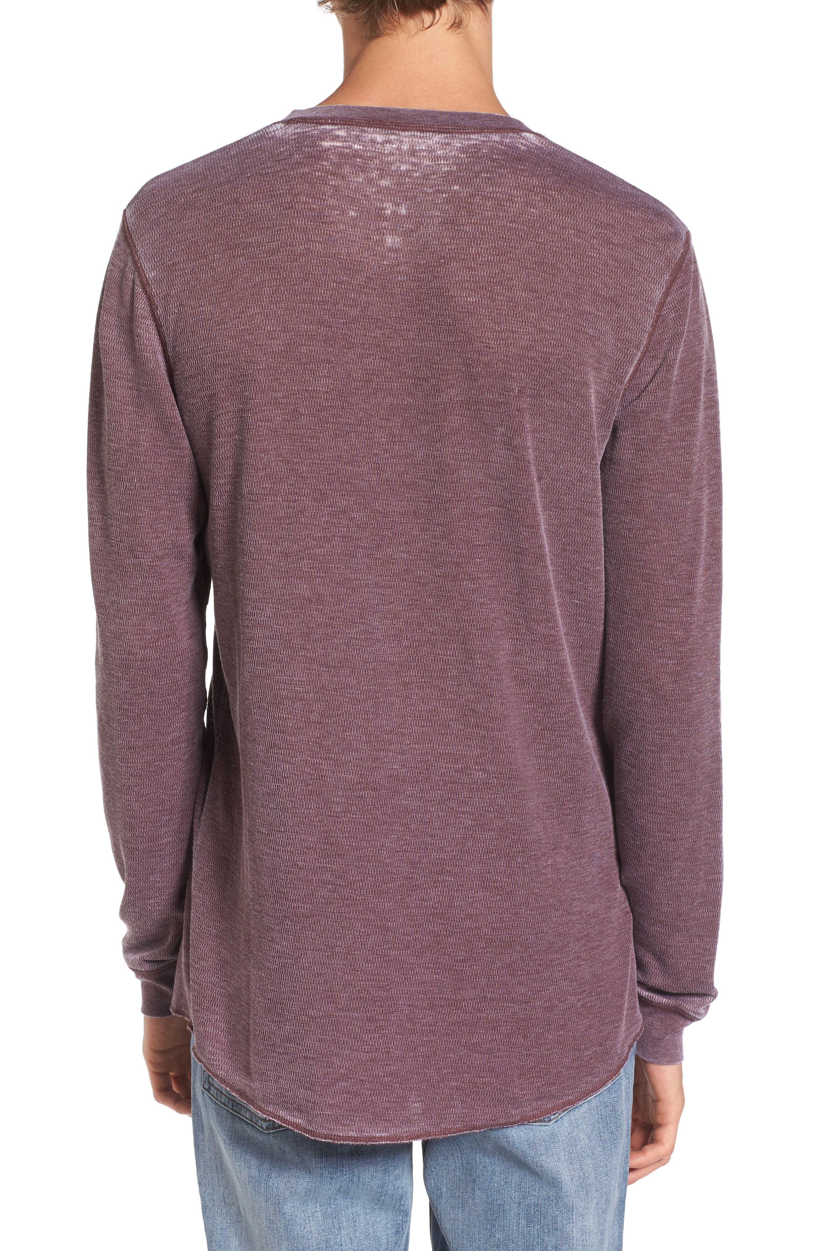 Notch Neck Thermal T-Shirt,                             Alternate thumbnail 14, color,