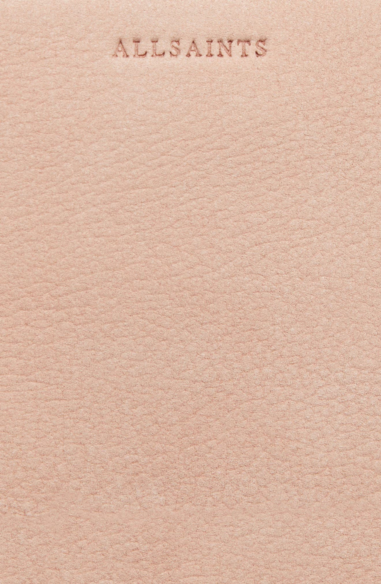 Mini Mast Leather North/South Tote,                             Alternate thumbnail 8, color,                             NUDE PINK