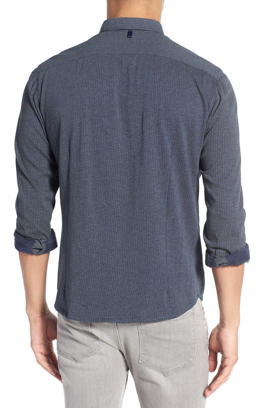 Slim Fit Dot Print Sport Shirt,                             Alternate thumbnail 2, color,                             410