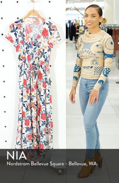 District Nights Floral Print Dress, sales video thumbnail