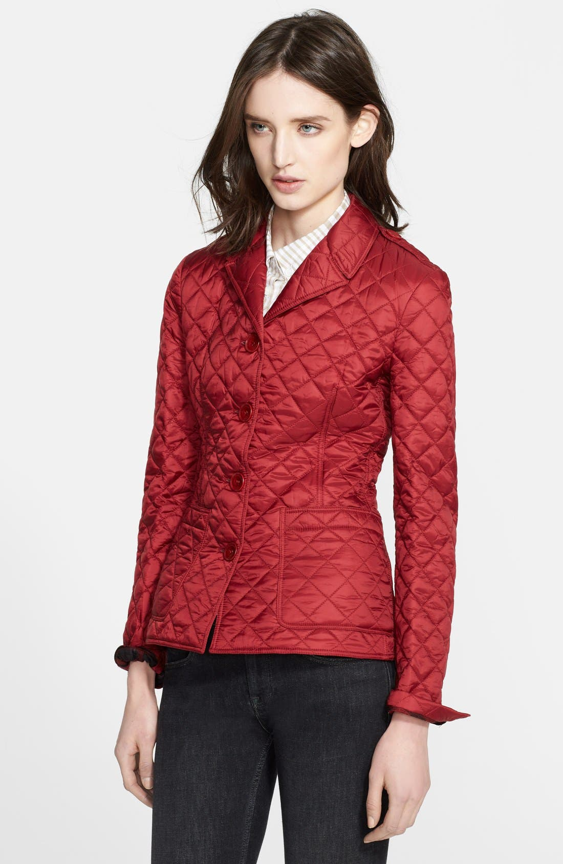 'Caulfield' Diamond Quilted Jacket,                             Alternate thumbnail 3, color,                             601