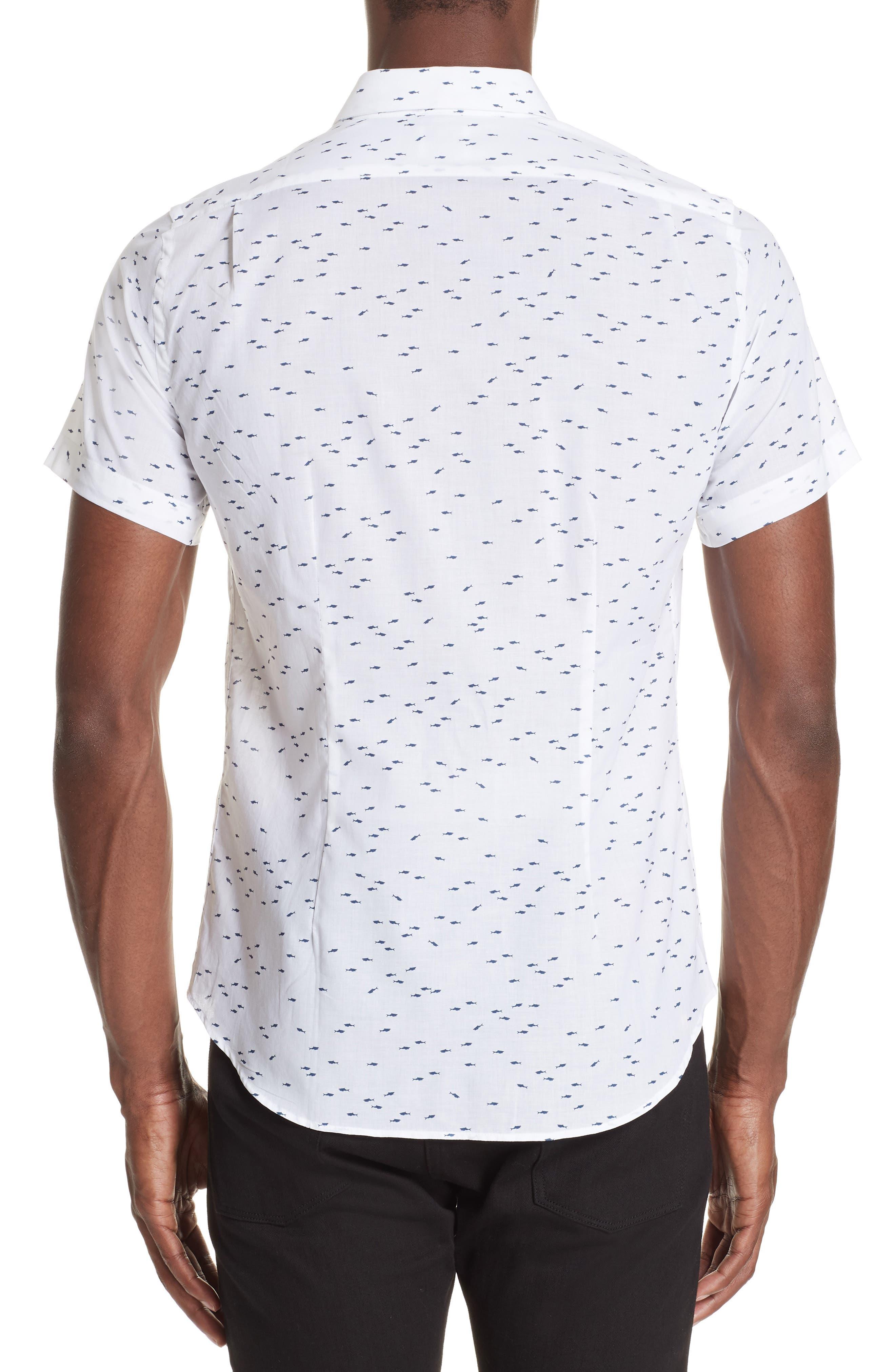Shark Print Shirt,                             Alternate thumbnail 2, color,                             035