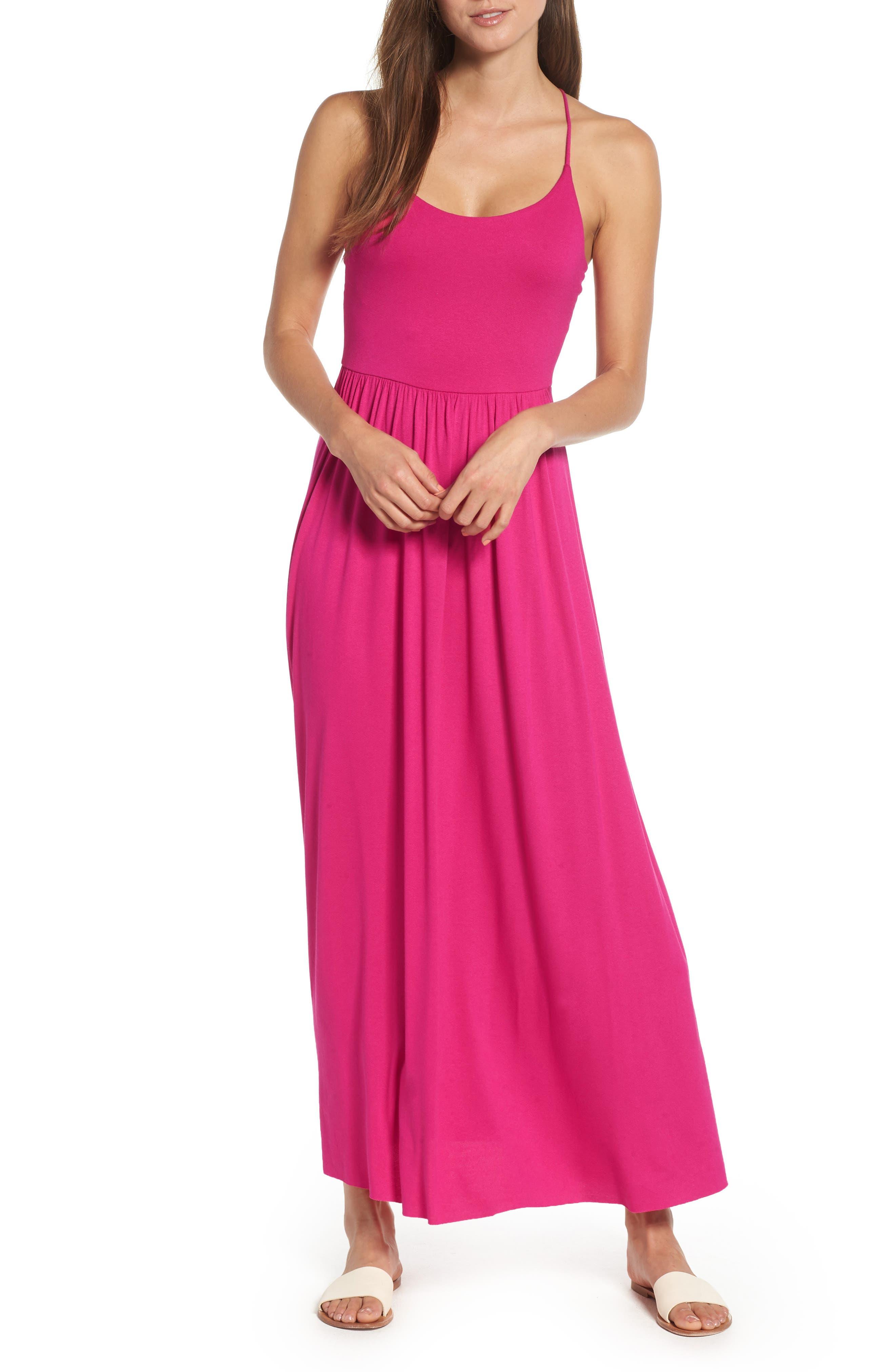 Strappy Back Maxi Dress,                             Main thumbnail 1, color,