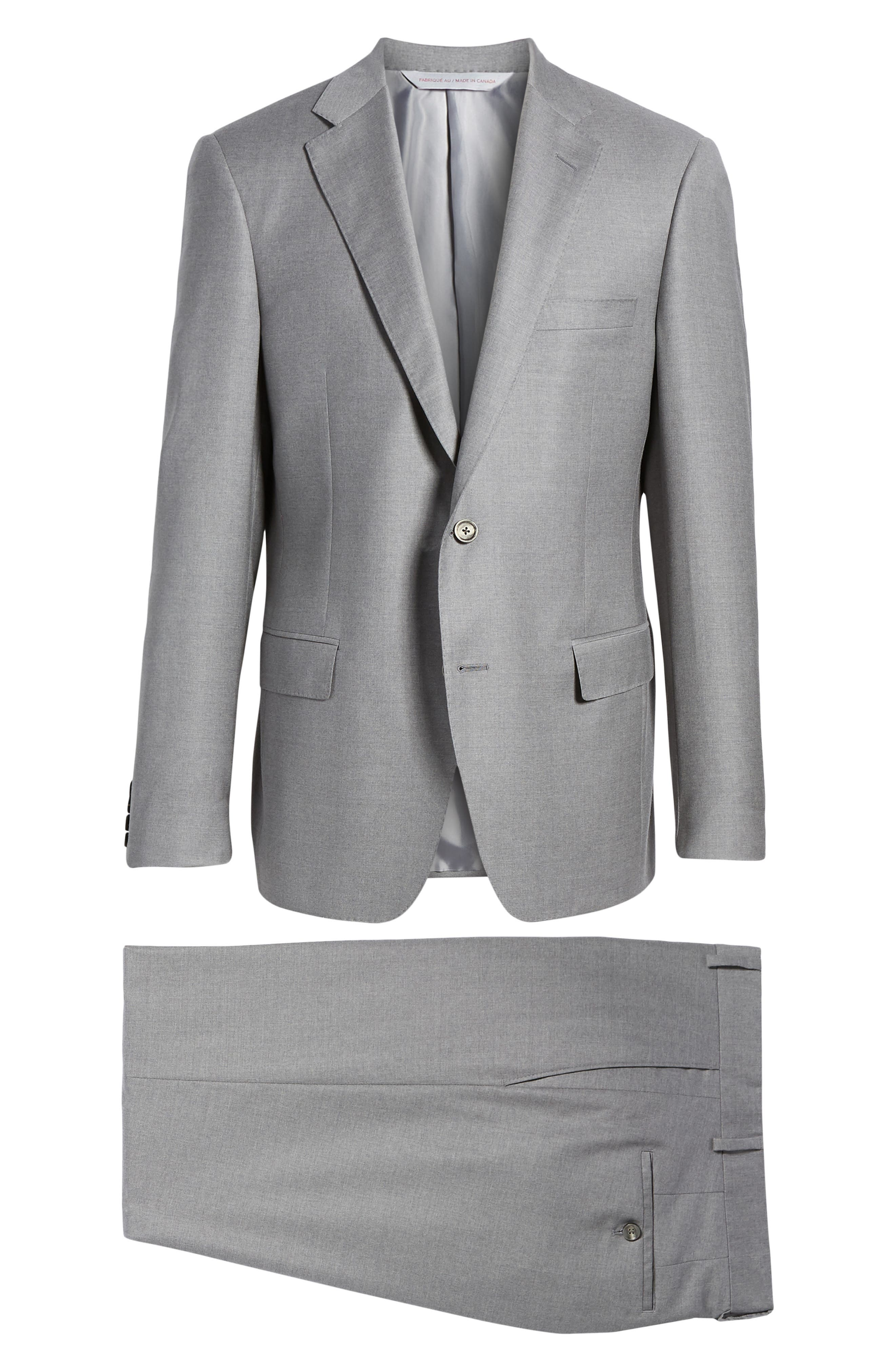 Bennet Classic Fit Solid Wool Suit,                             Alternate thumbnail 8, color,                             020