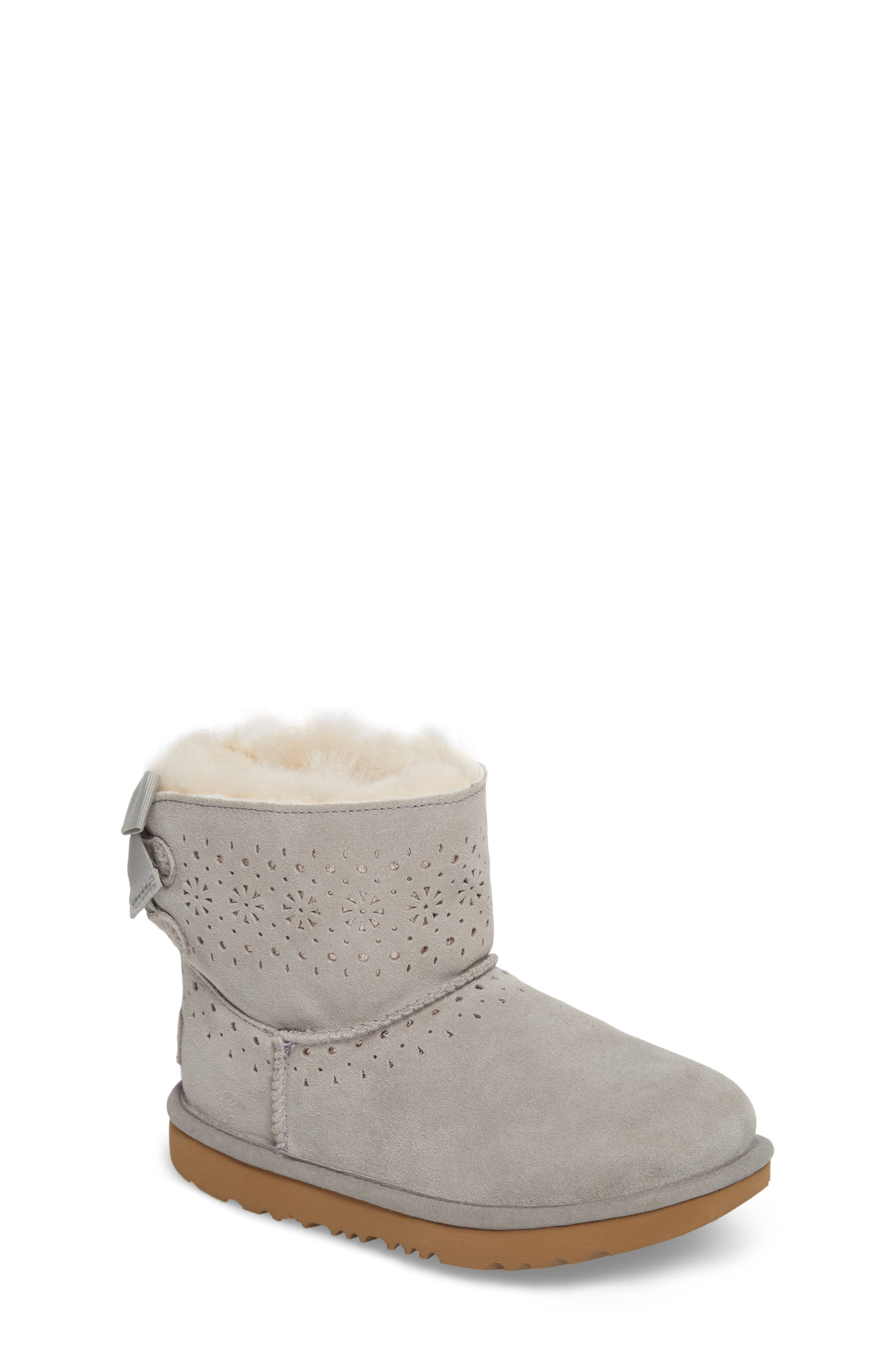 UGG<SUP>®</SUP> Dae Perforated Tie Back Boot, Main, color, 024