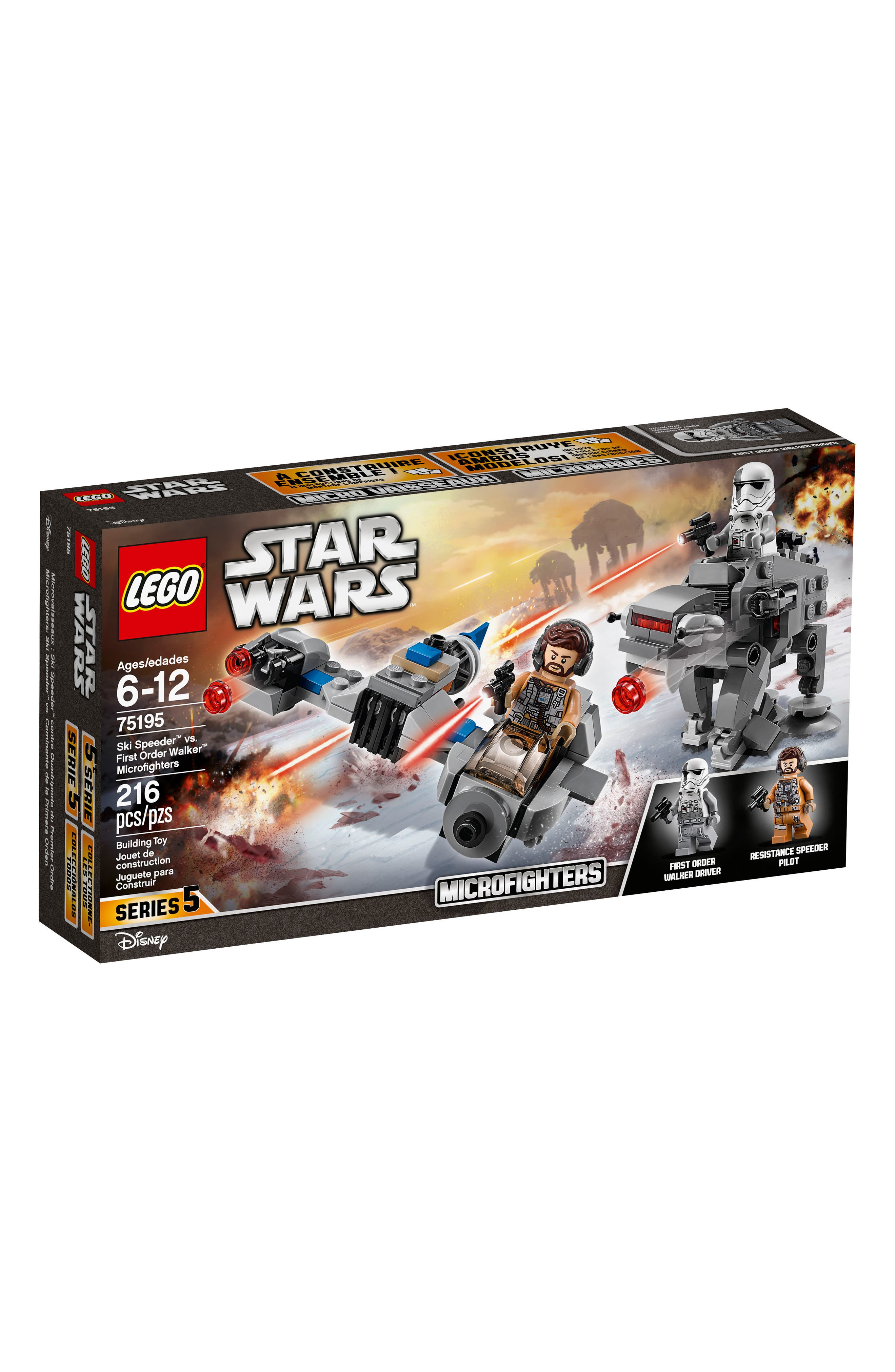 Star Wars<sup>™</sup> - Ski Speeder<sup>™</sup> vs. First Order Walker<sup>™</sup> Microfighters - 75195,                             Main thumbnail 1, color,                             MULTI