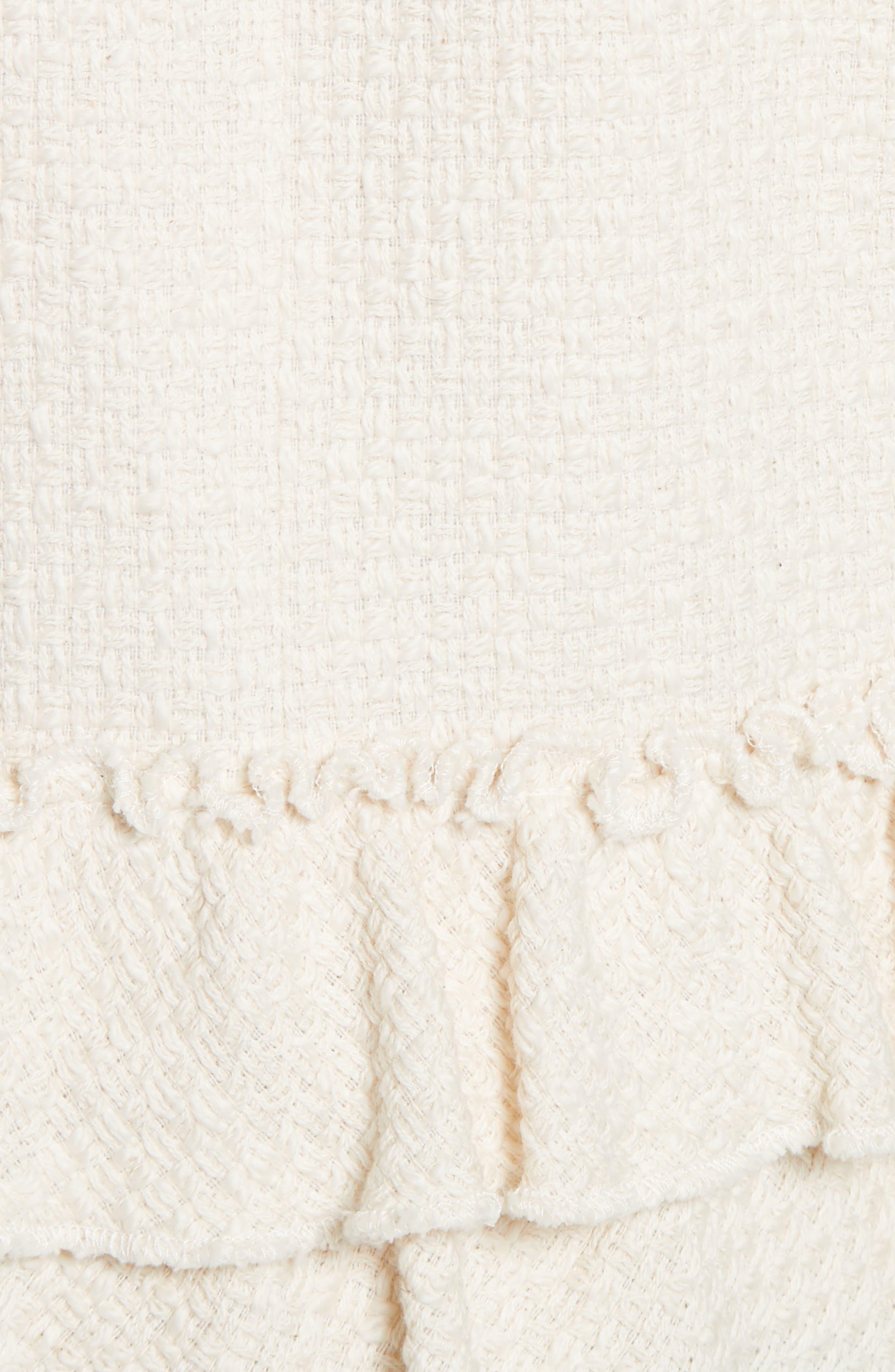 Frill Tweed Jacket,                             Alternate thumbnail 5, color,                             901