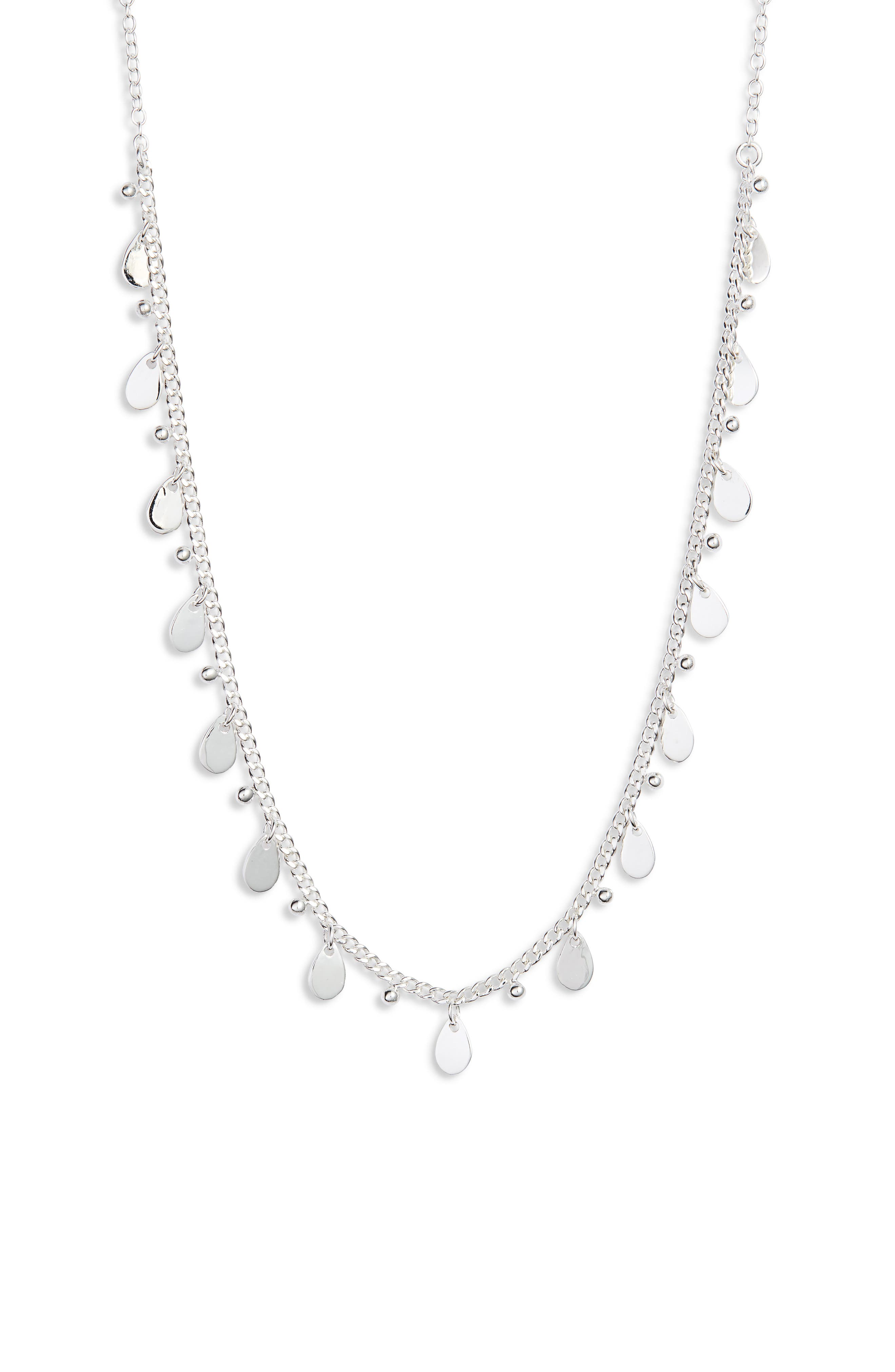 ANNA BECK Petite Charm Necklace in Silver