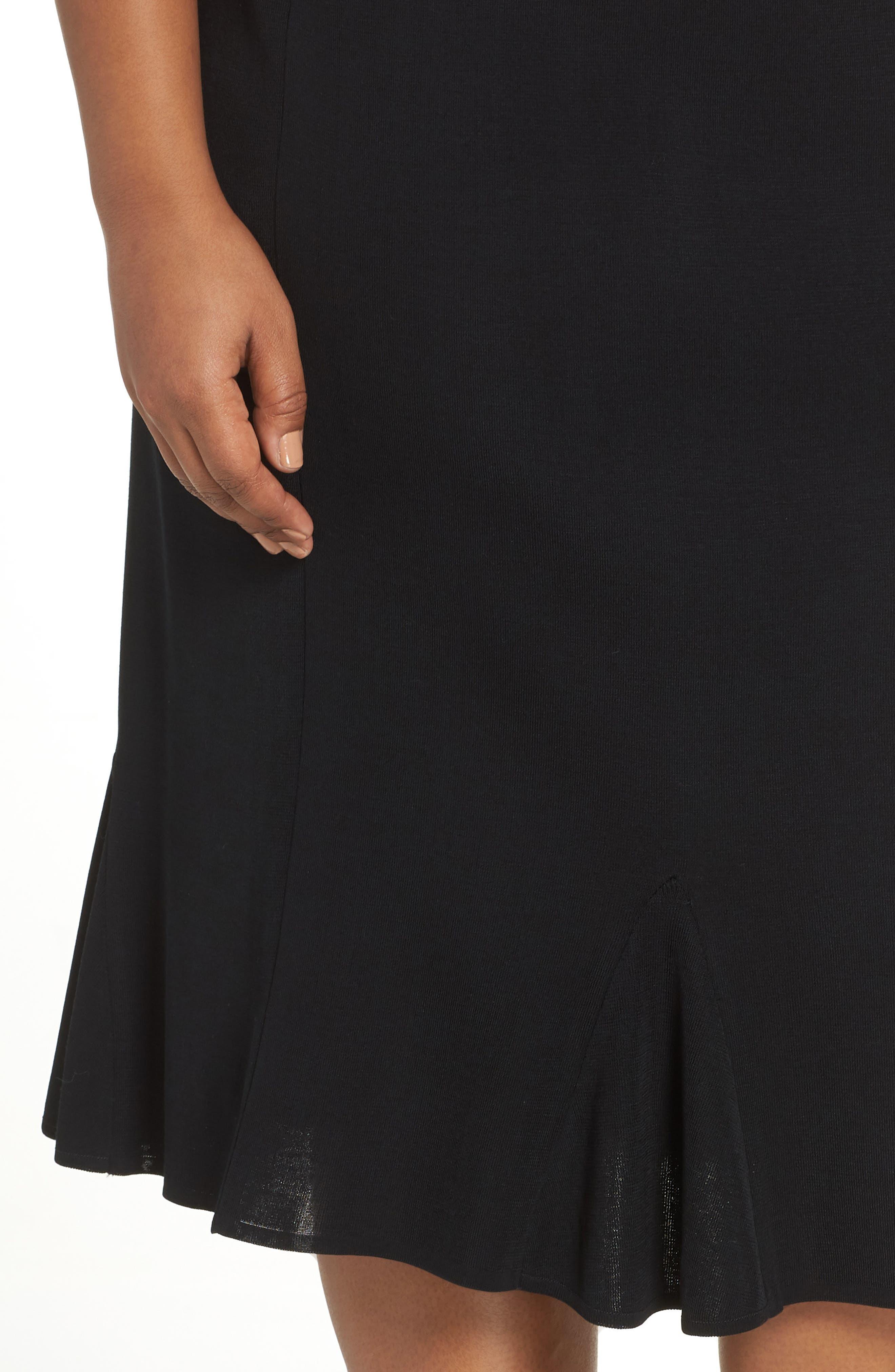 Gore Flare Skirt,                             Alternate thumbnail 4, color,                             BLACK
