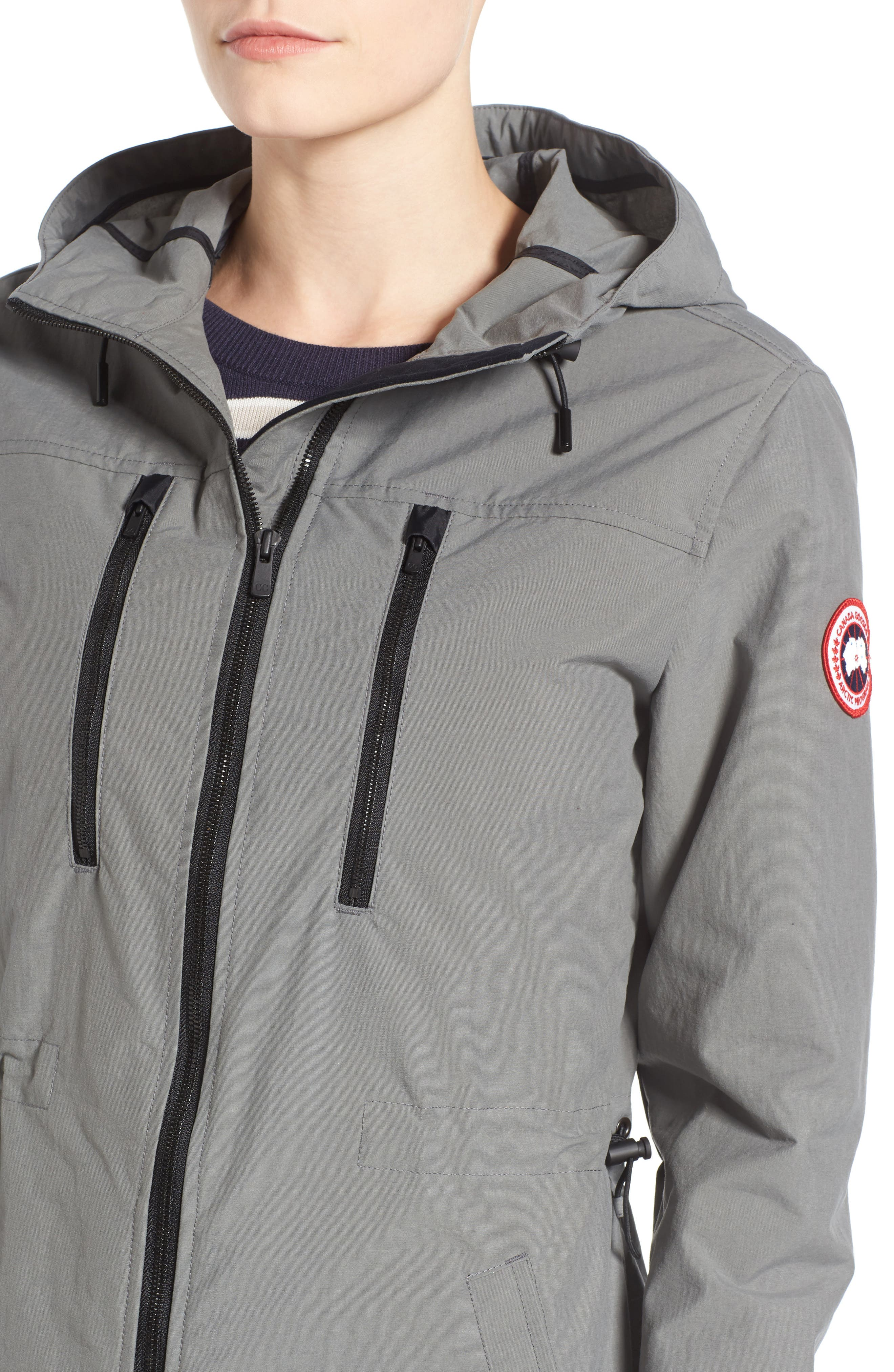 Brossard Hooded Drop Tail Jacket,                             Alternate thumbnail 11, color,