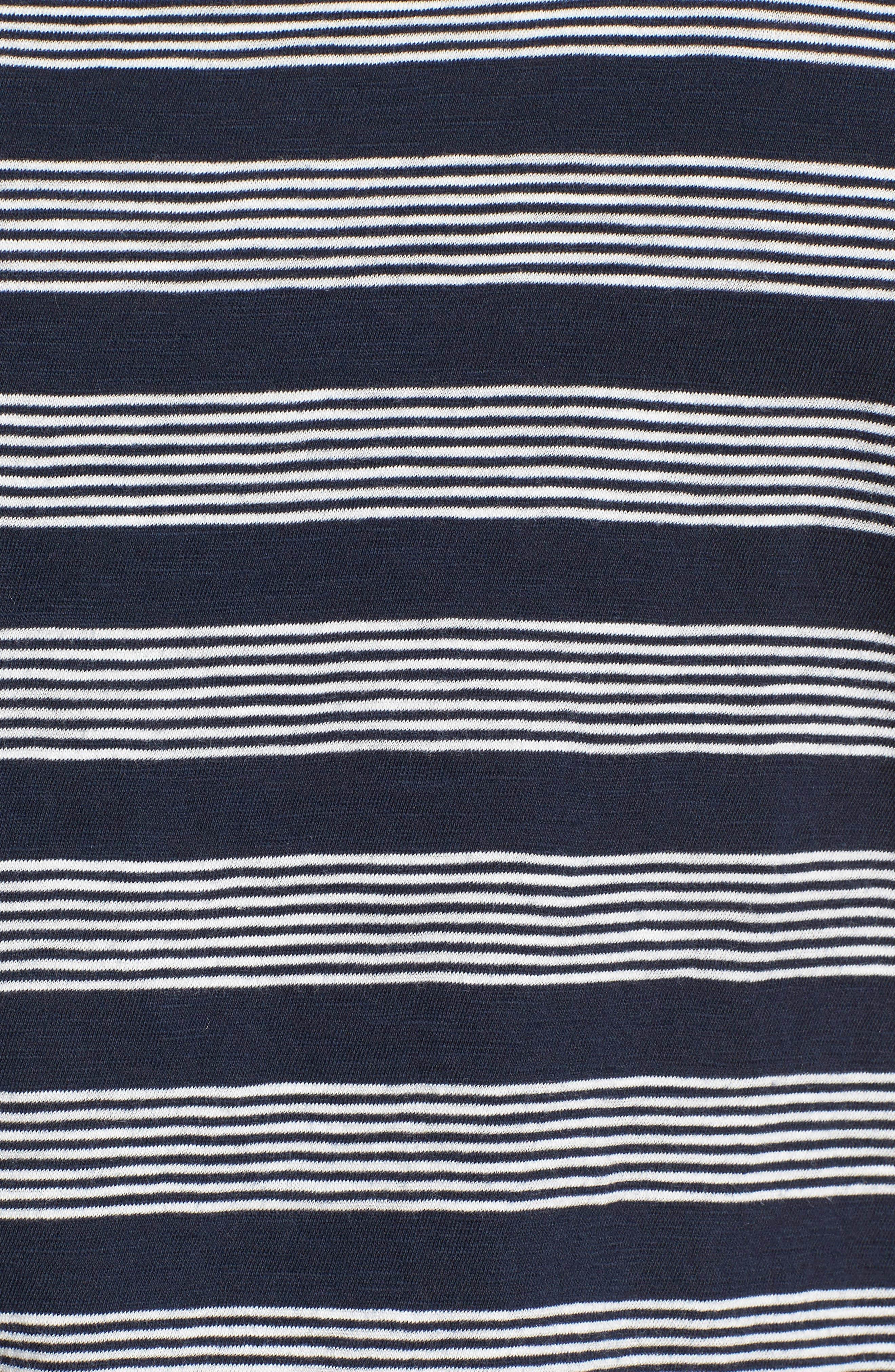 Whisper Cotton Stripe Crewneck Tee,                             Alternate thumbnail 6, color,                             400