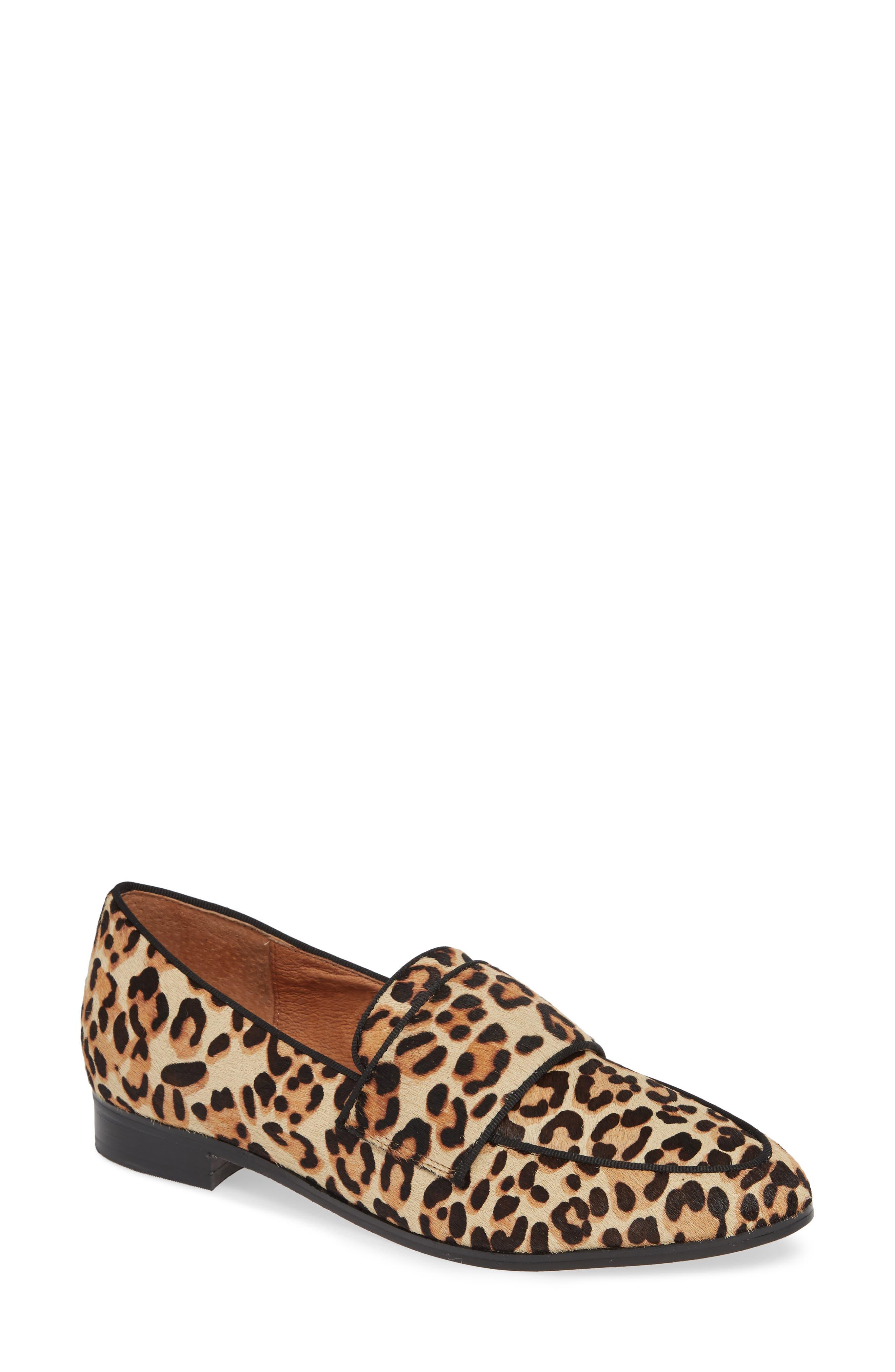 Emilia Genuine Calf Hair Loafer,                         Main,                         color, LEOPARD CALF HAIR