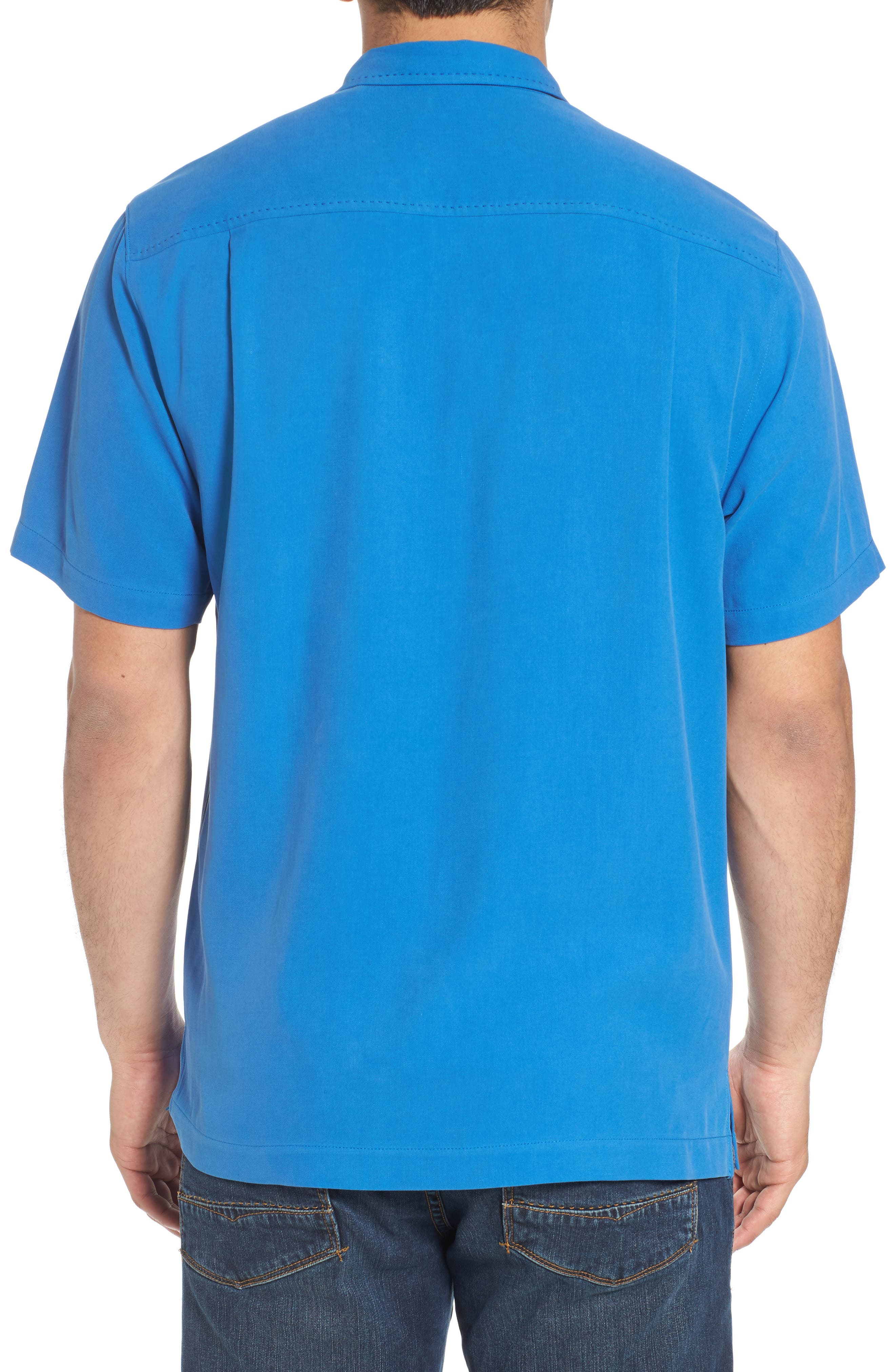 Catalina Twill Sport Shirt,                             Alternate thumbnail 2, color,                             NAVY