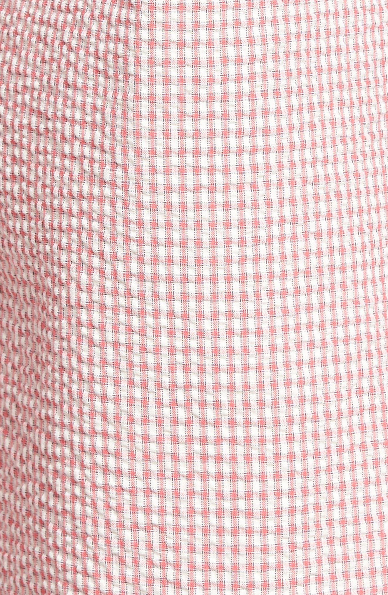 Fringe Check Seersucker Shorts,                             Alternate thumbnail 10, color,
