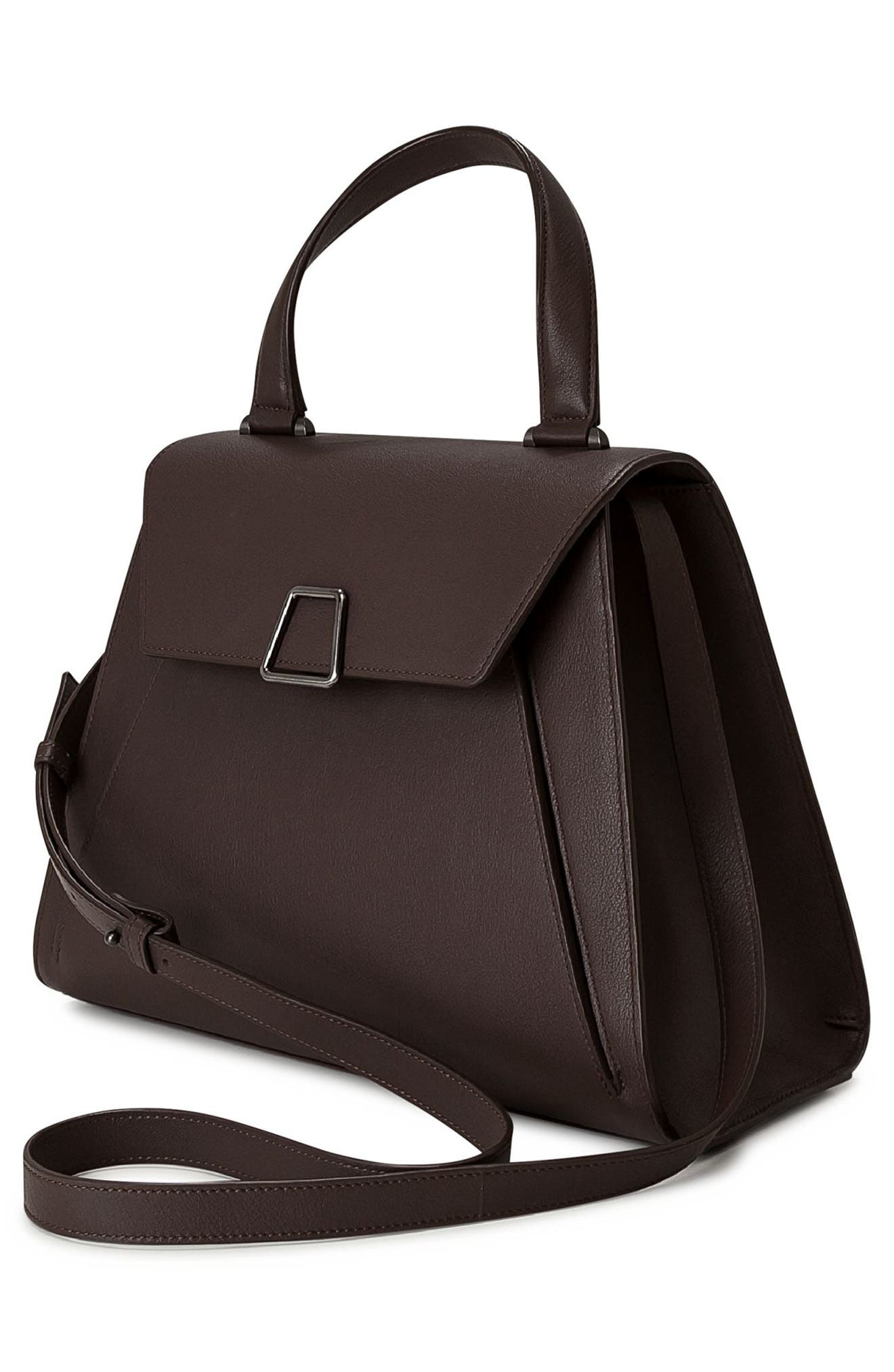Alba Top Handle Leather Satchel,                             Alternate thumbnail 3, color,                             248