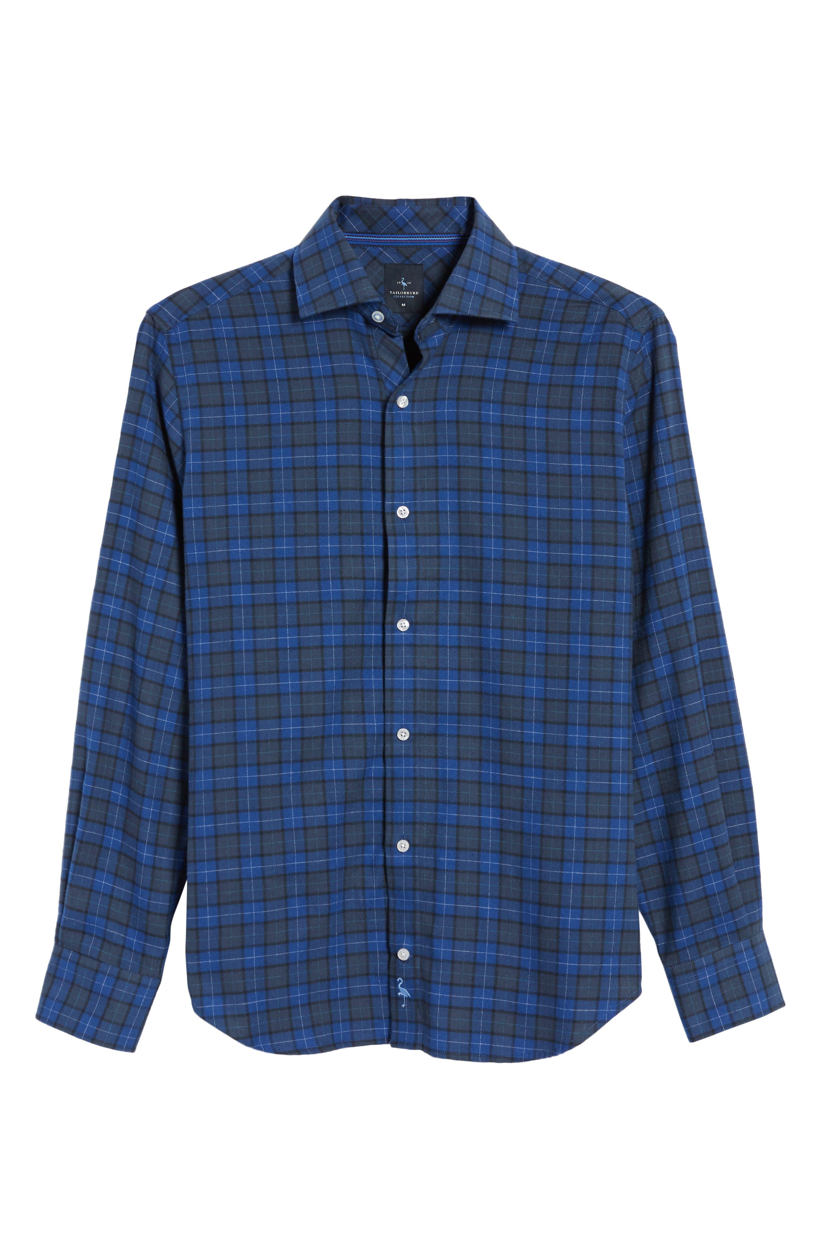 Cankton Plaid Sport Shirt,                             Alternate thumbnail 6, color,                             400