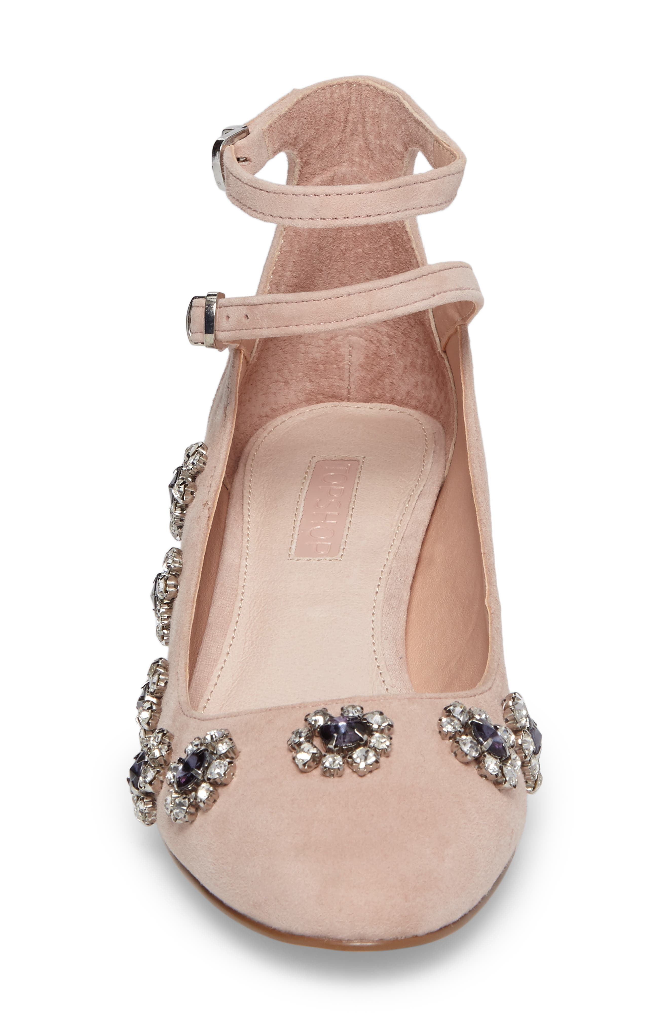 Jaida Crystal Embellished Pump,                             Alternate thumbnail 4, color,                             250