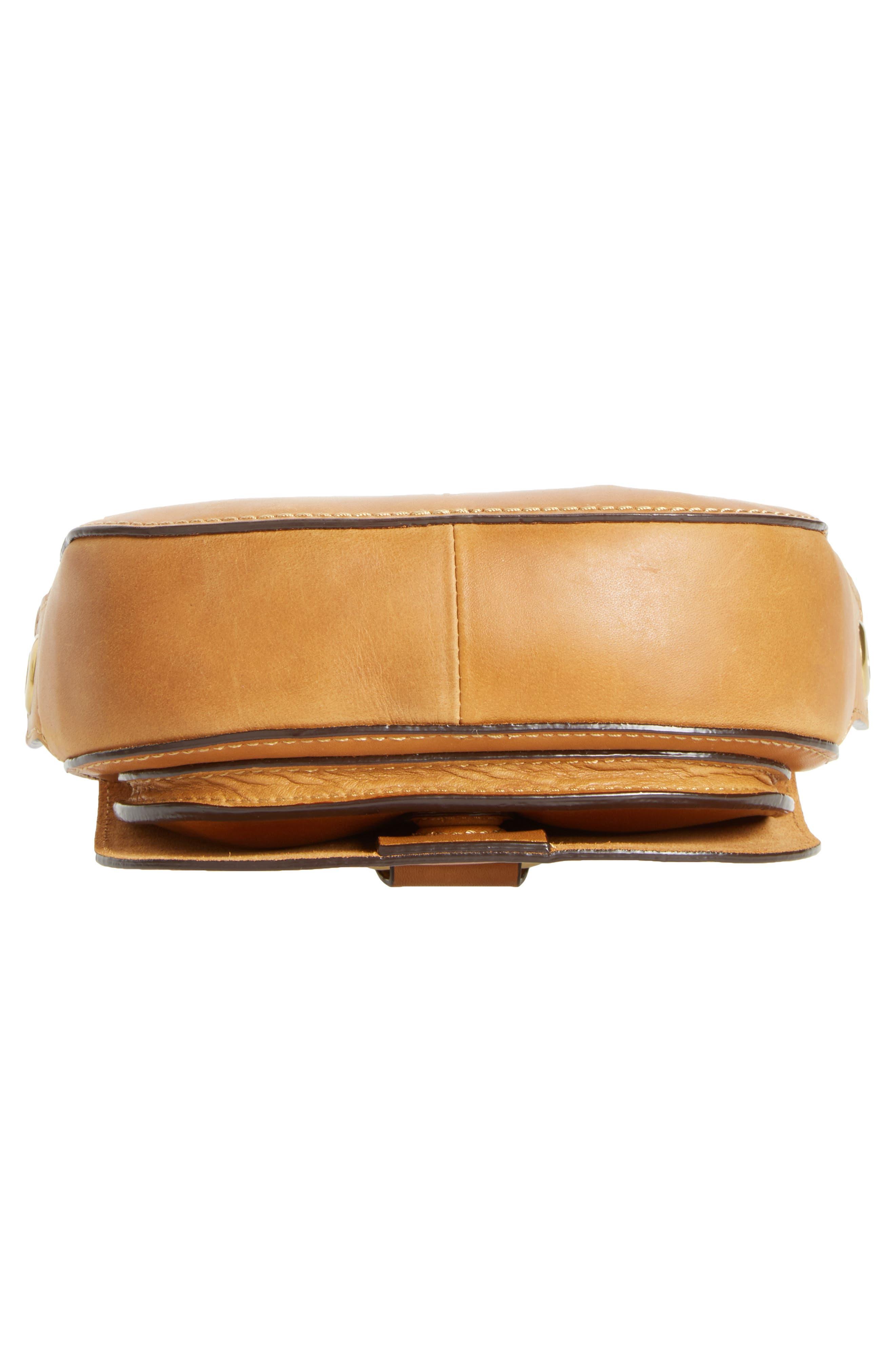 Mini Ilana Harness Leather Saddle Bag,                             Alternate thumbnail 12, color,