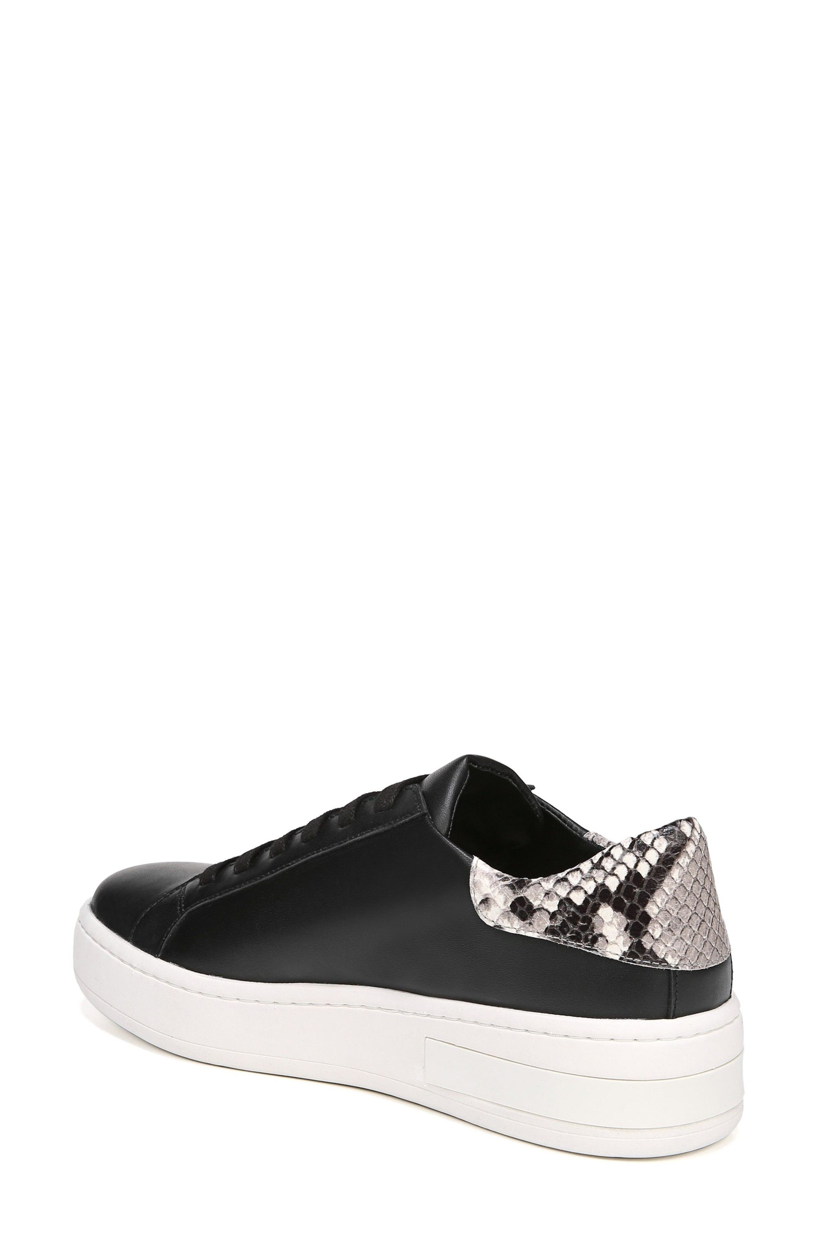 Rylen Platform Sneaker,                             Alternate thumbnail 2, color,                             BLACK/ BLACK/ WHITE LEATHER