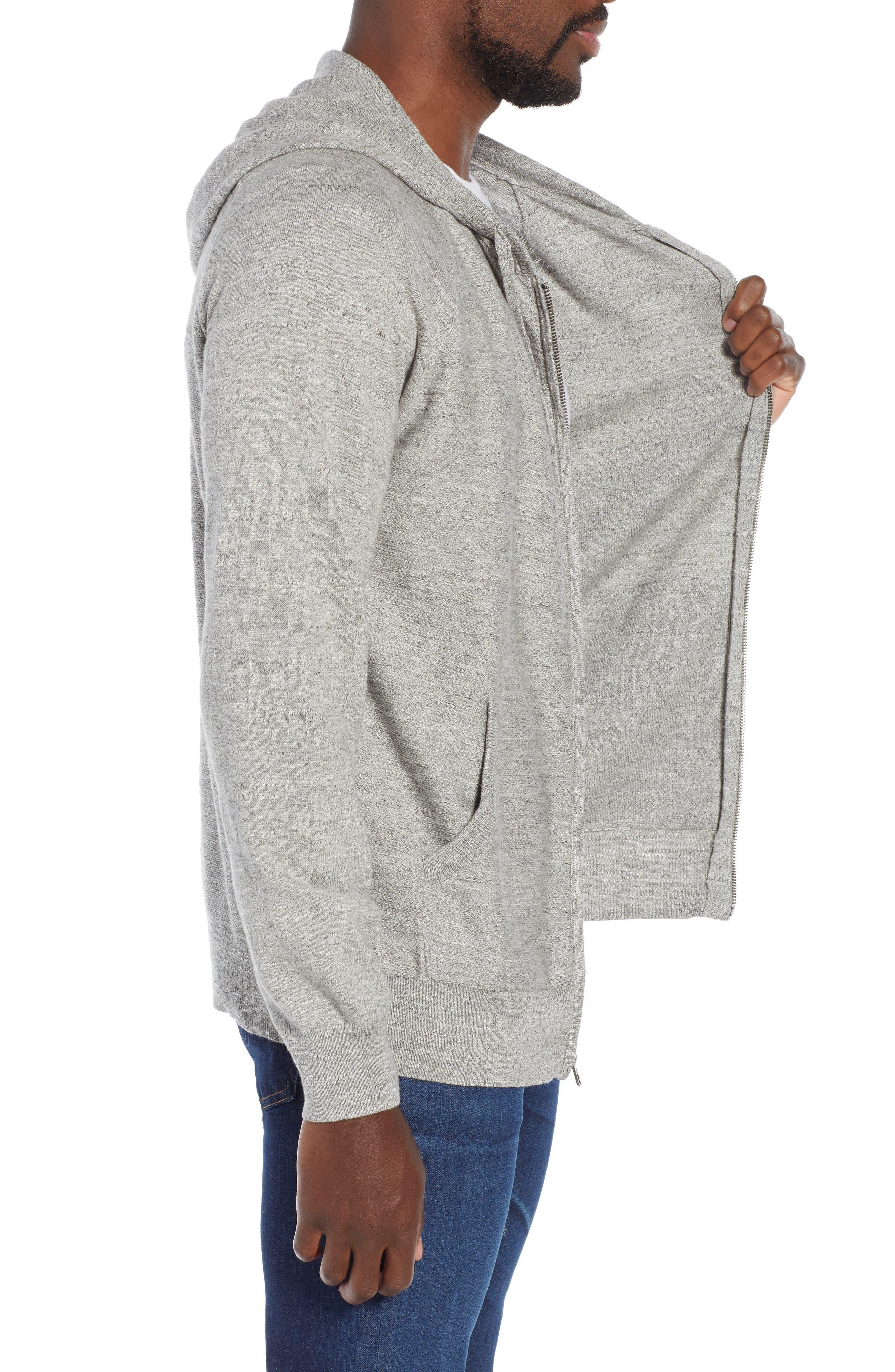Rugged Raglan Sleeve Cotton Hoodie,                             Alternate thumbnail 3, color,                             020