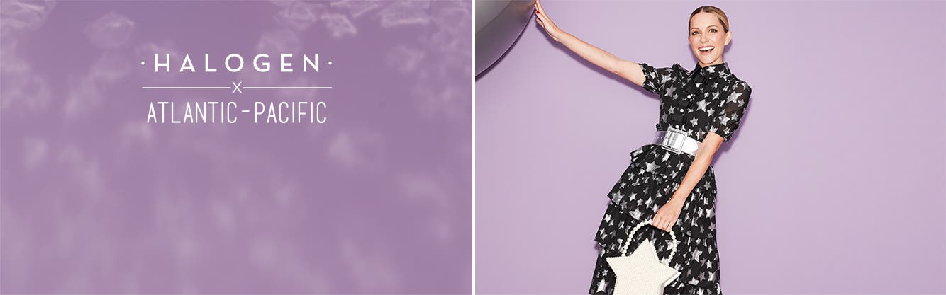 Halogen x Atlantic-Pacific women's clothing, shoes and accessories.