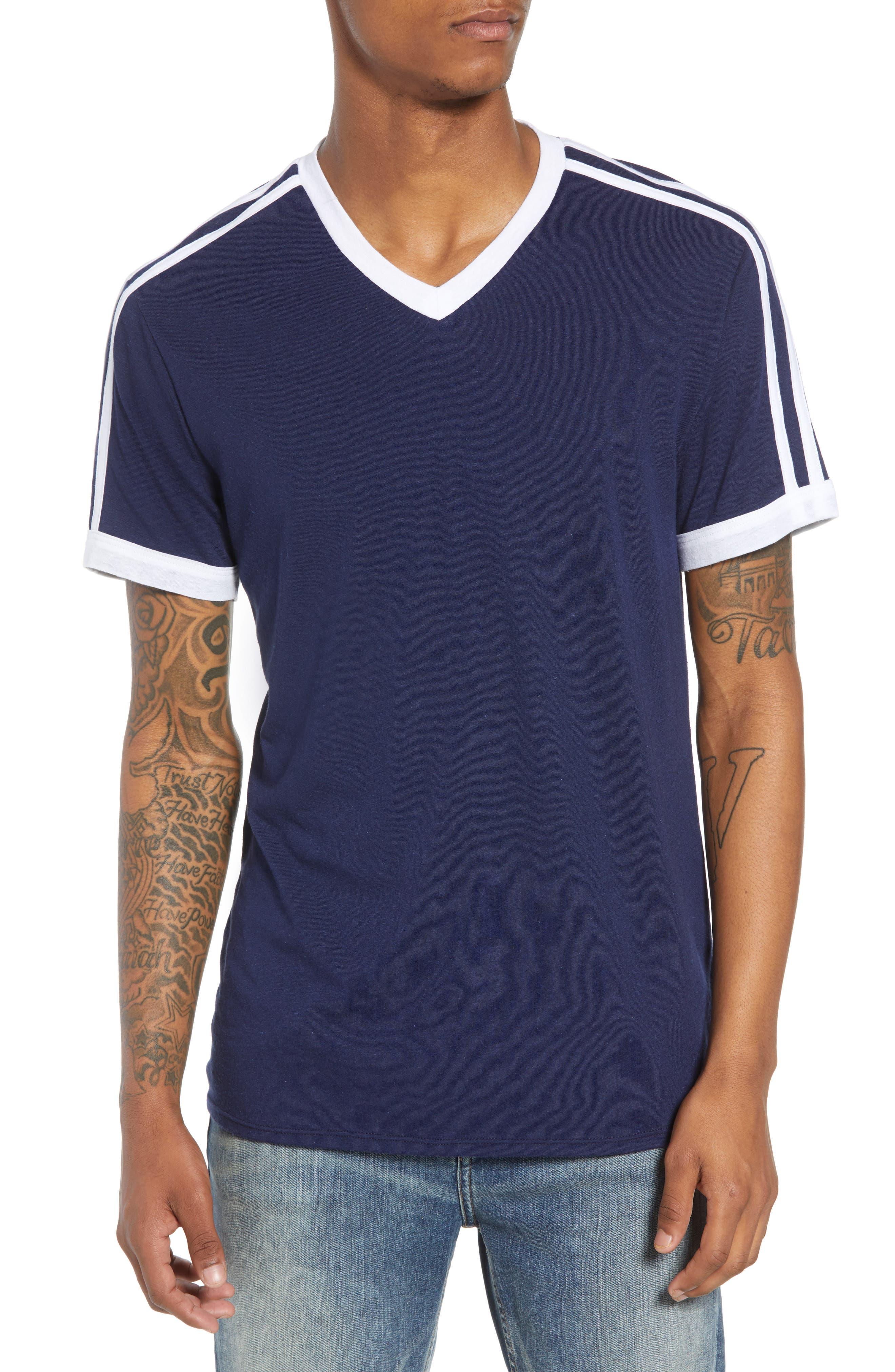 Vintage Athletic V-Neck T-Shirt,                             Main thumbnail 1, color,                             410